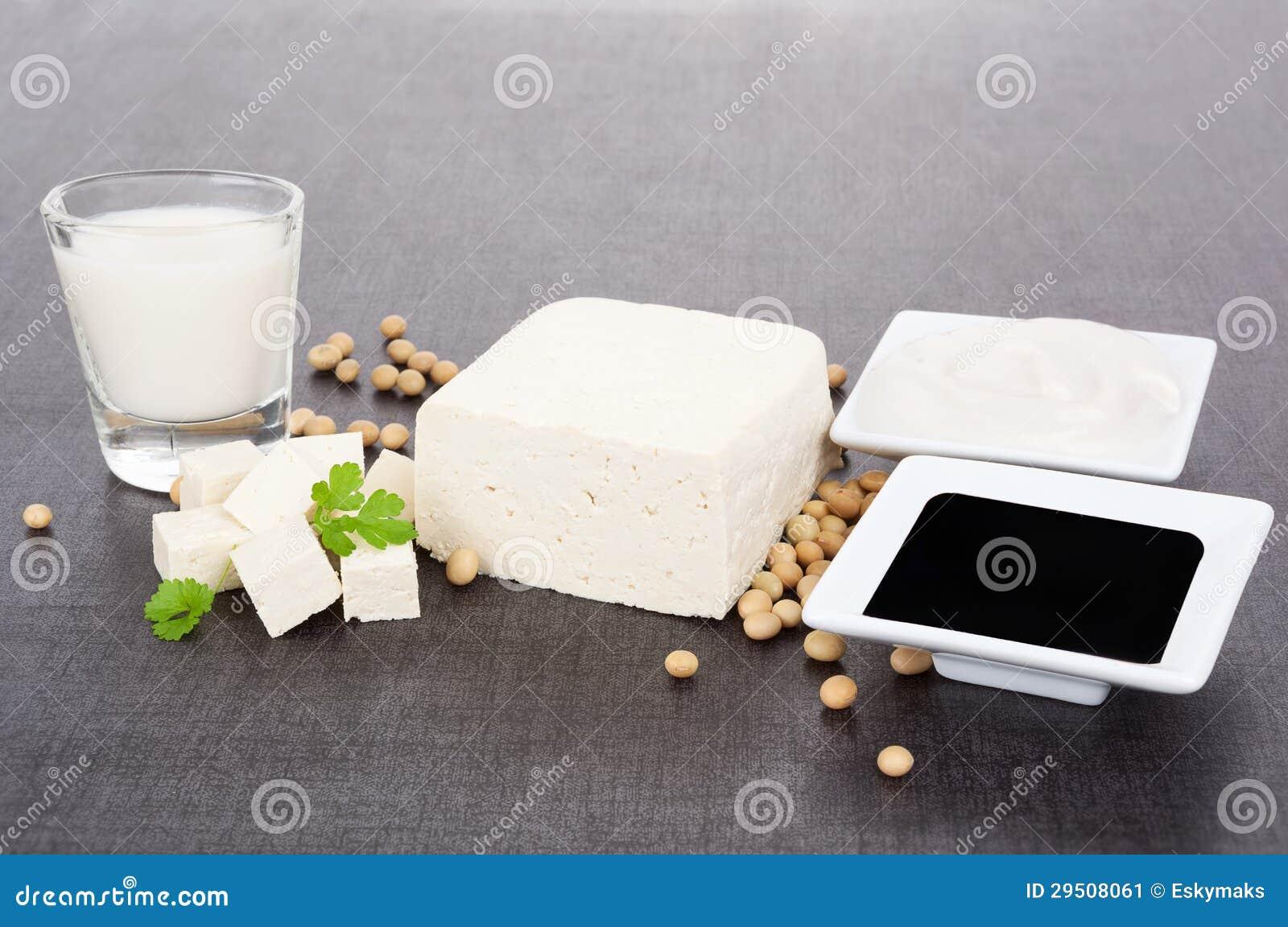 De productenstilleven van de soja.