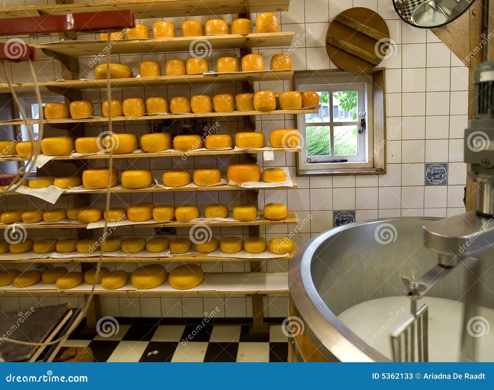 De productie van de kaas