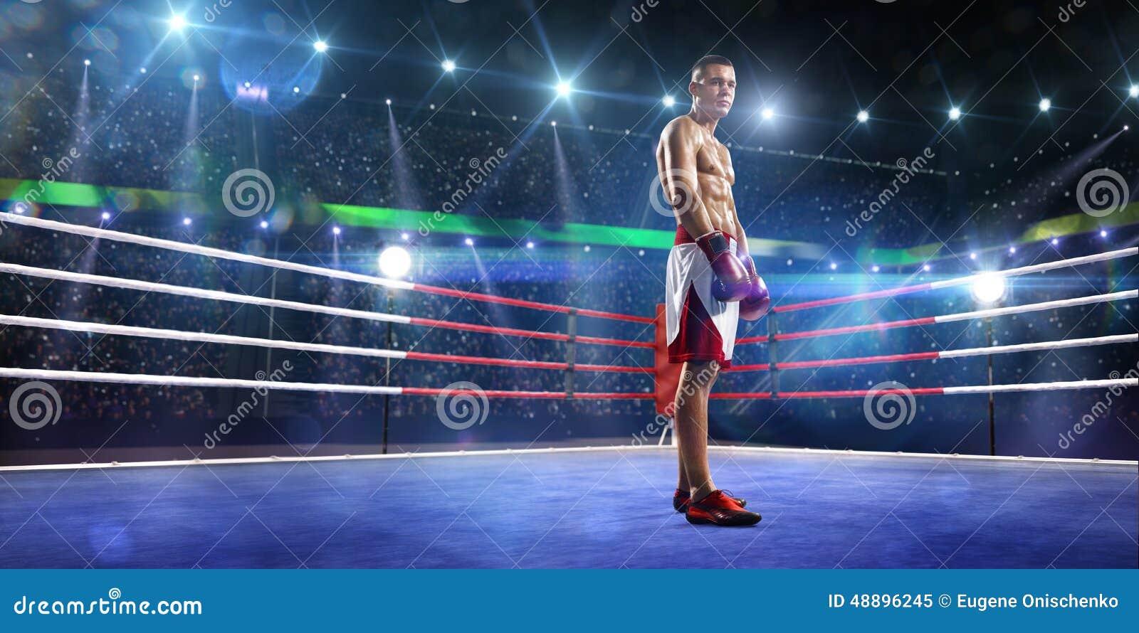 De Professionlbokser bevindt zich op de ring