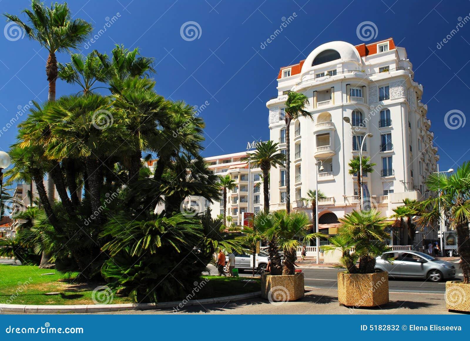 De promenade van Croisette in Cannes