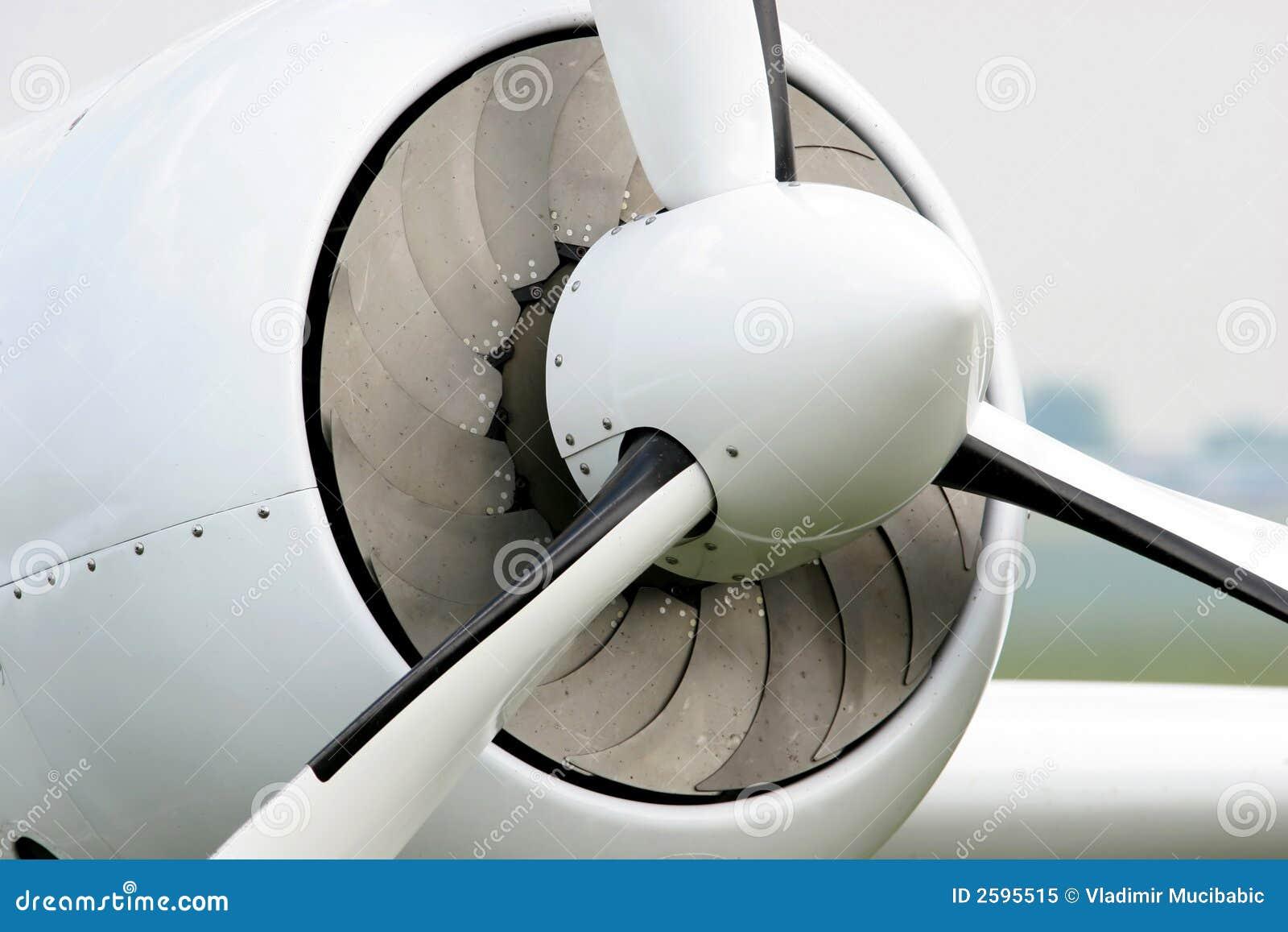 De propeller van het vliegtuig