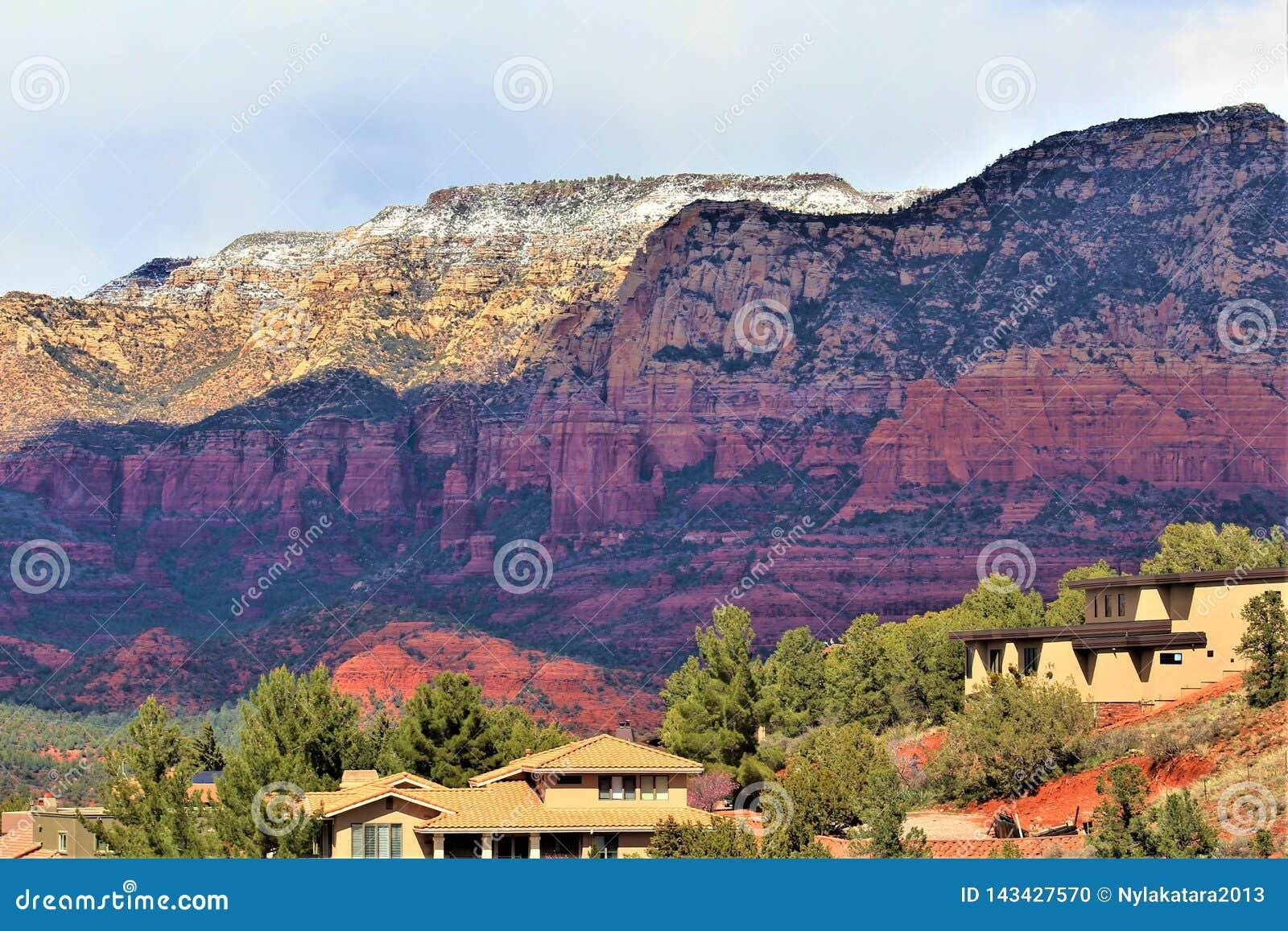 De Provincie van Maricopa van het landschapslandschap, Sedona, Arizona, Verenigde Staten