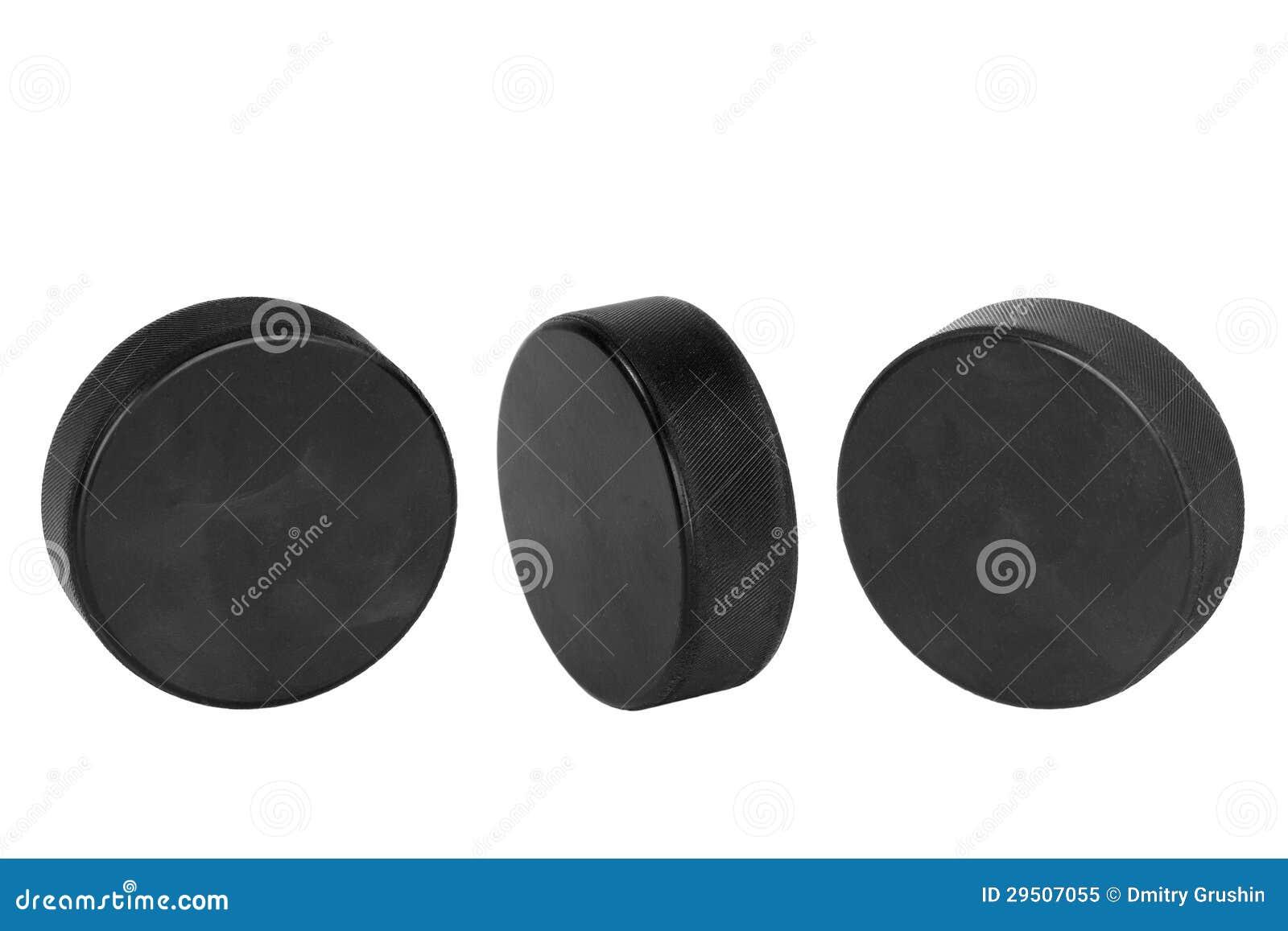 De Pucks van het hockey