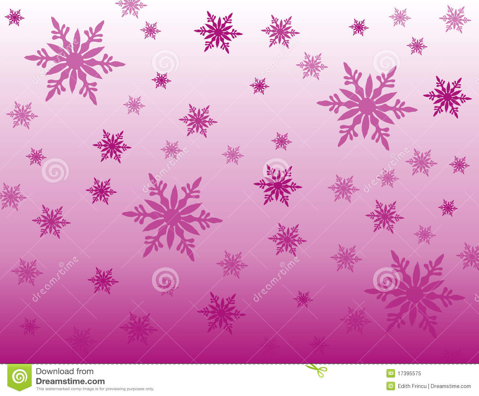 De purpere achtergrond van sneeuwvlokken