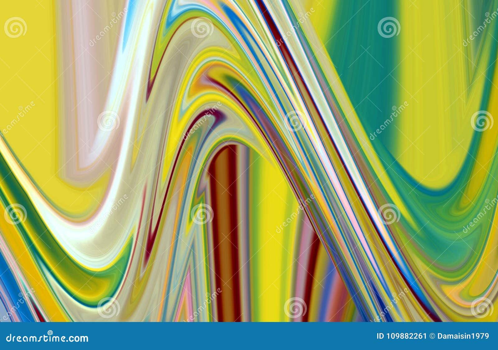 De purpere fosforescerende gouden beige vloeibare meetkunde, vat creatieve achtergrond samen