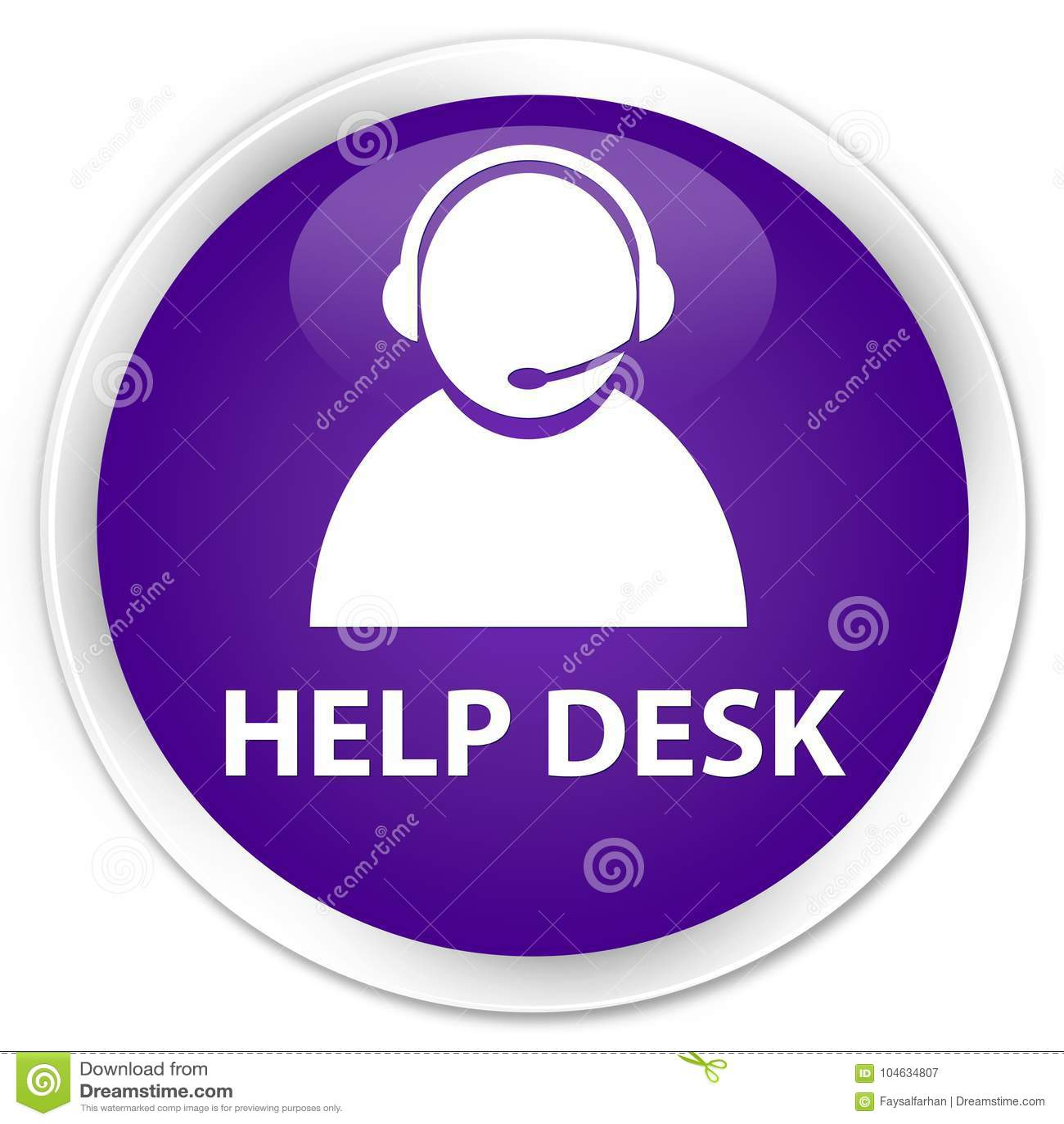 Download De Purpere Ronde Knoop Van De Helpdesk (het Pictogram Van De Klantenzorg) Premie Stock Illustratie - Illustratie bestaande uit service, adviseur: 104634807