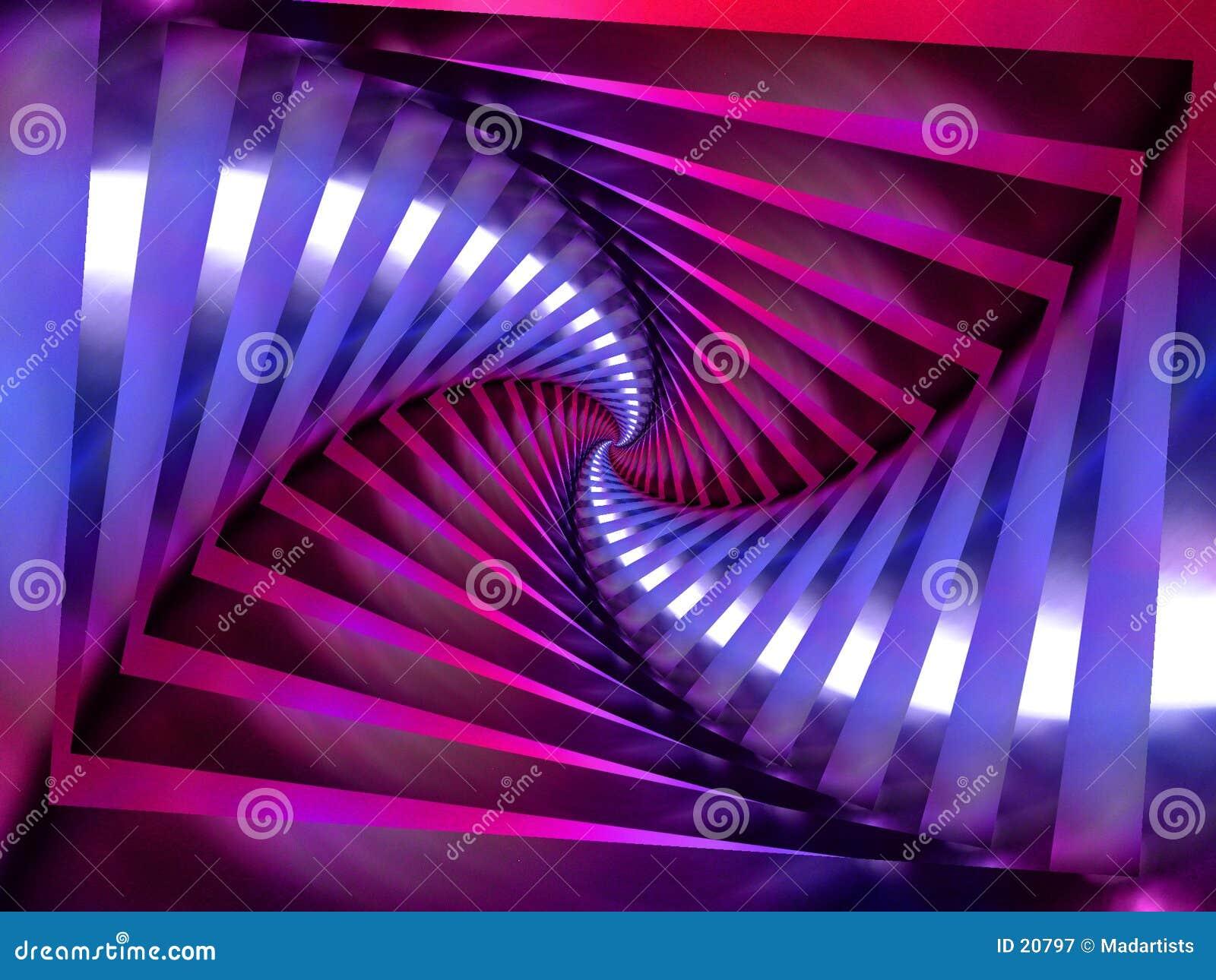 De purpere Spiraalvormige Achtergrond van de Werveling