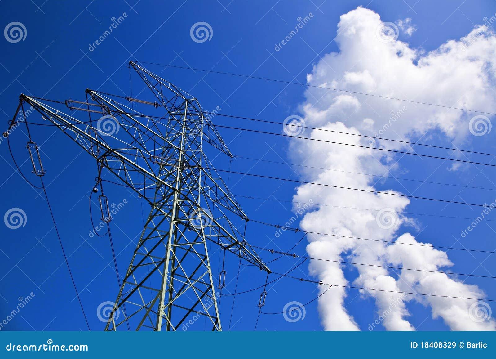 De pyloon van de elektriciteit
