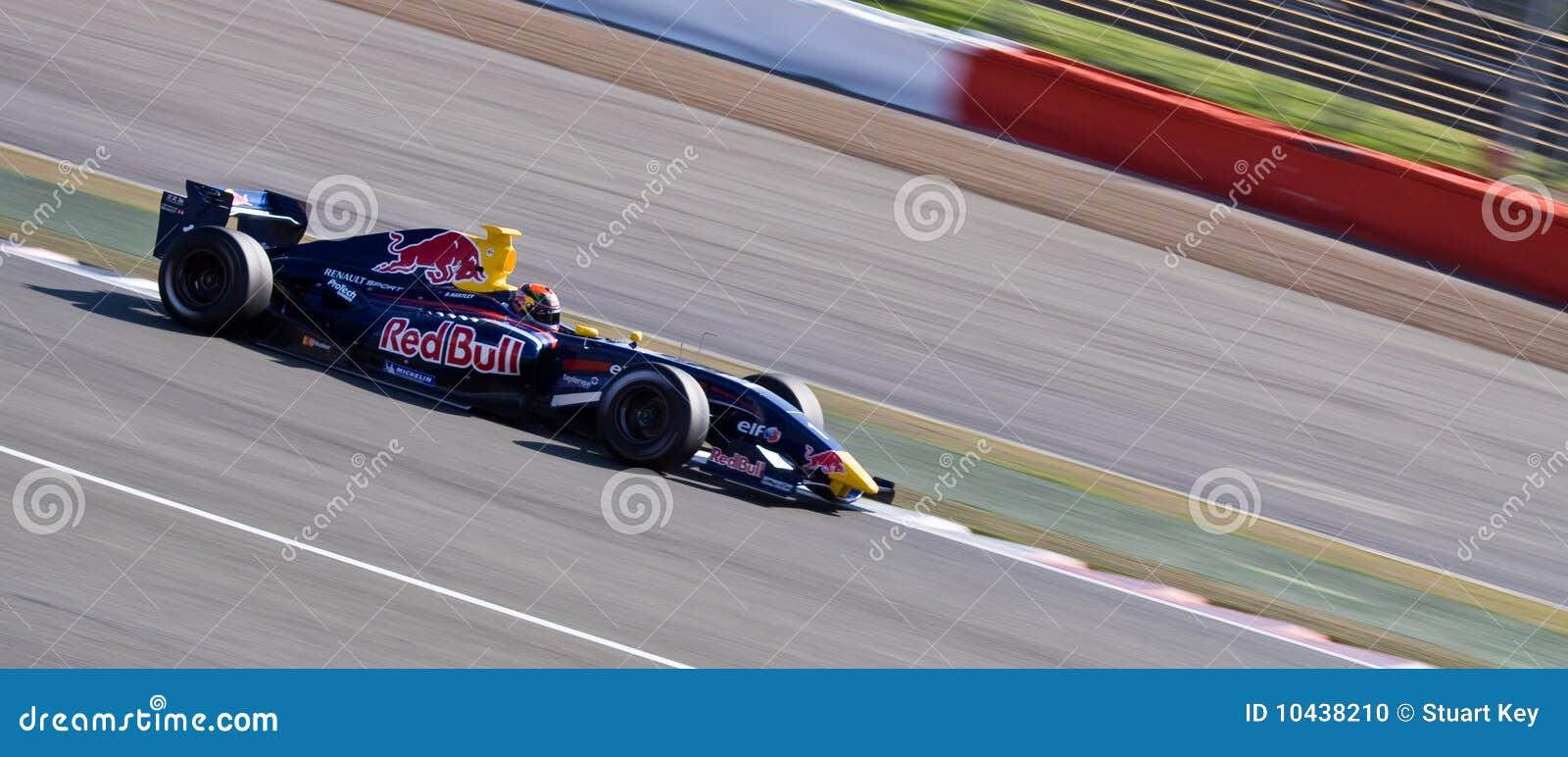 De raceauto van Red Bull