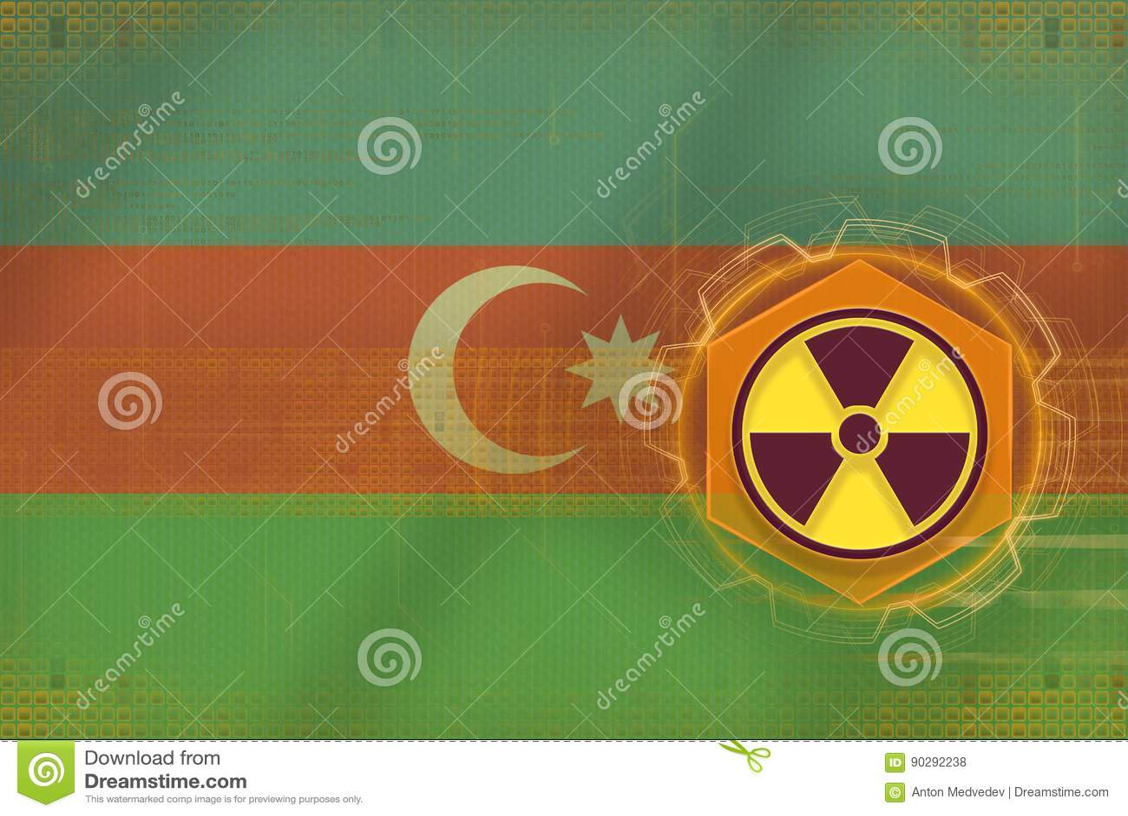 De radioactieve bedreiging van Azerbeidzjan Het concept van het stralingsgevaar