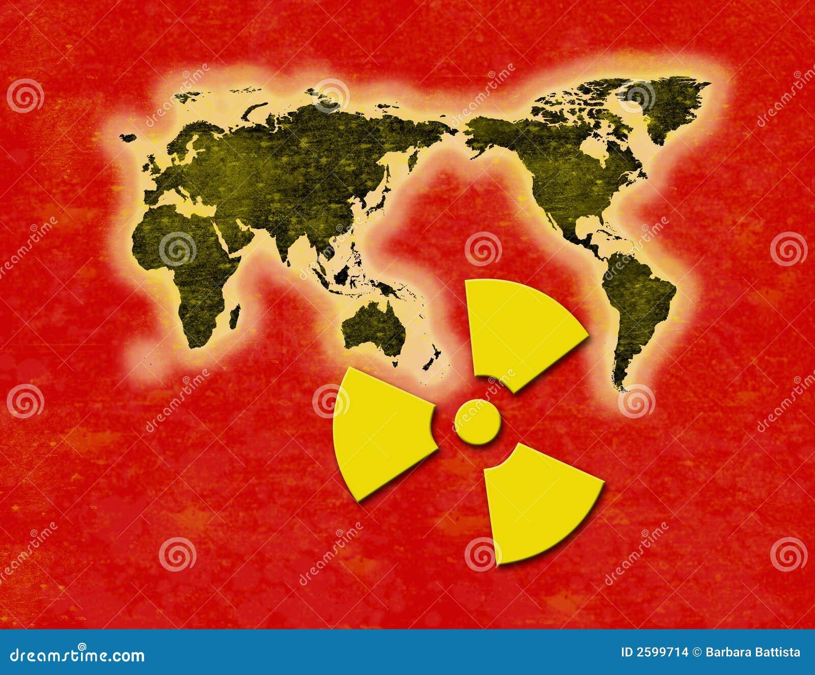 De Radioactieve neerslag van de straling