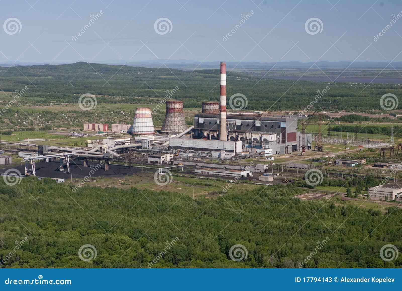 De raffinaderij van de olie - LuchtMening