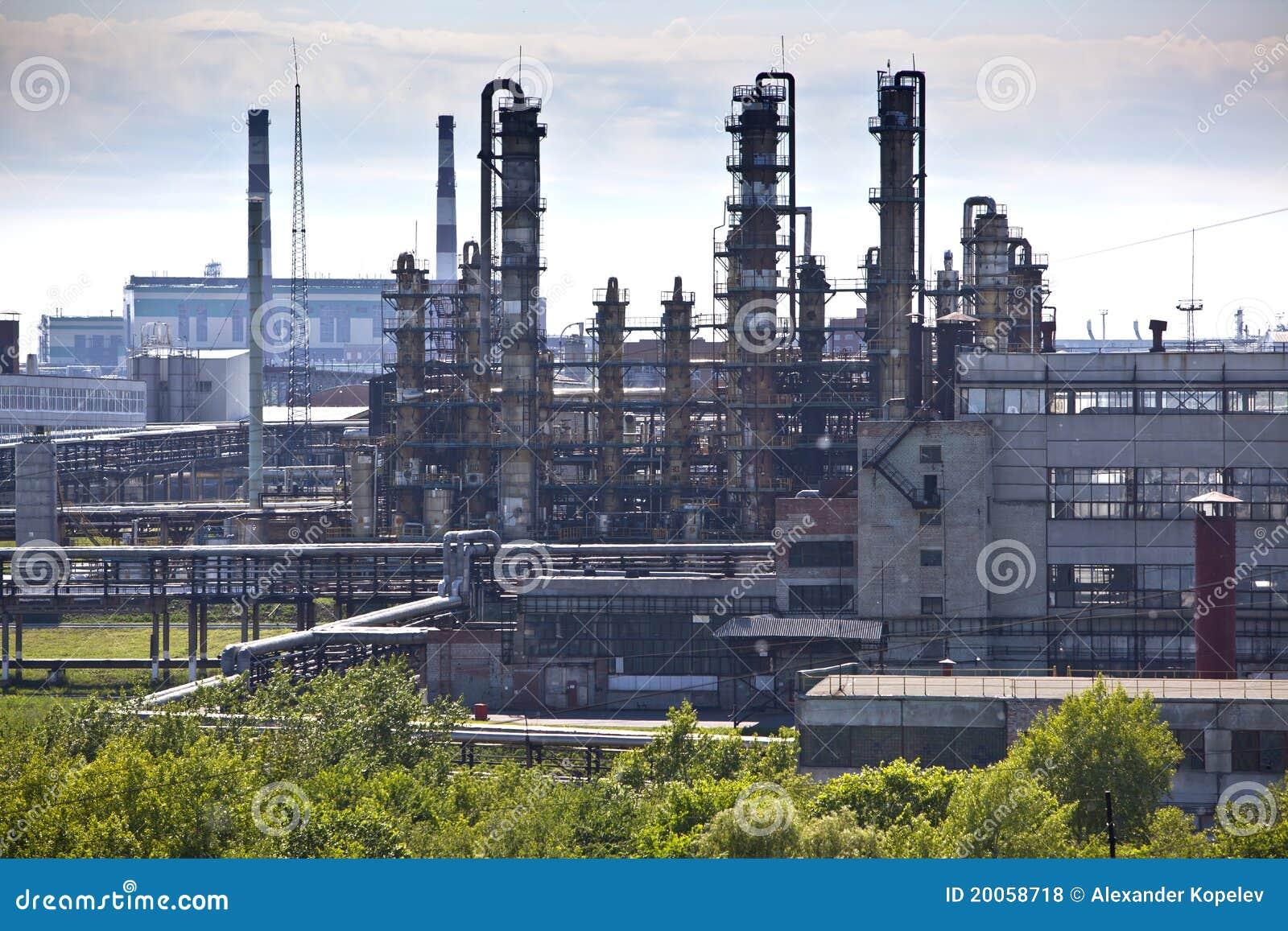 De raffinage chemische fabriek van de olie
