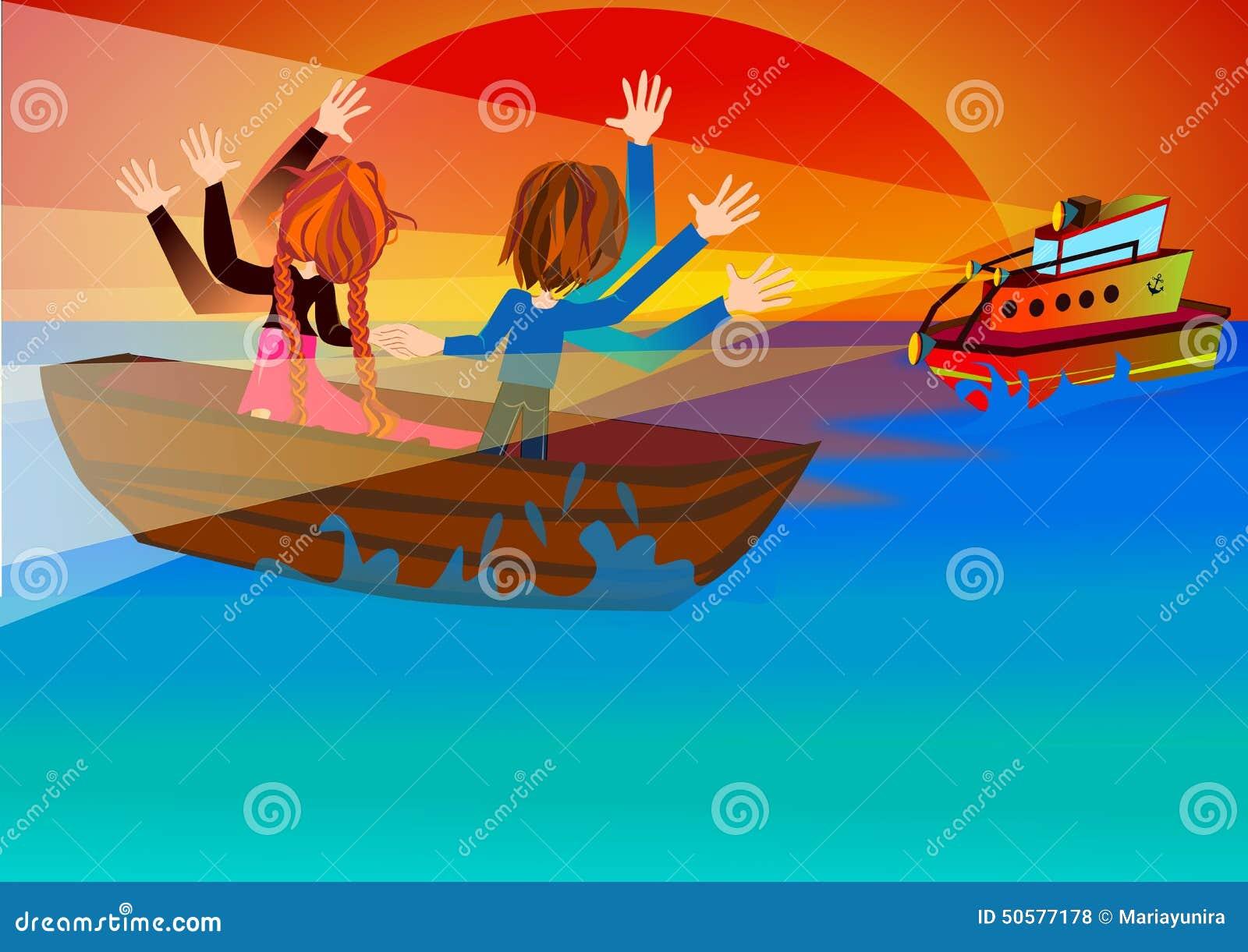 De Reddingsboot komt