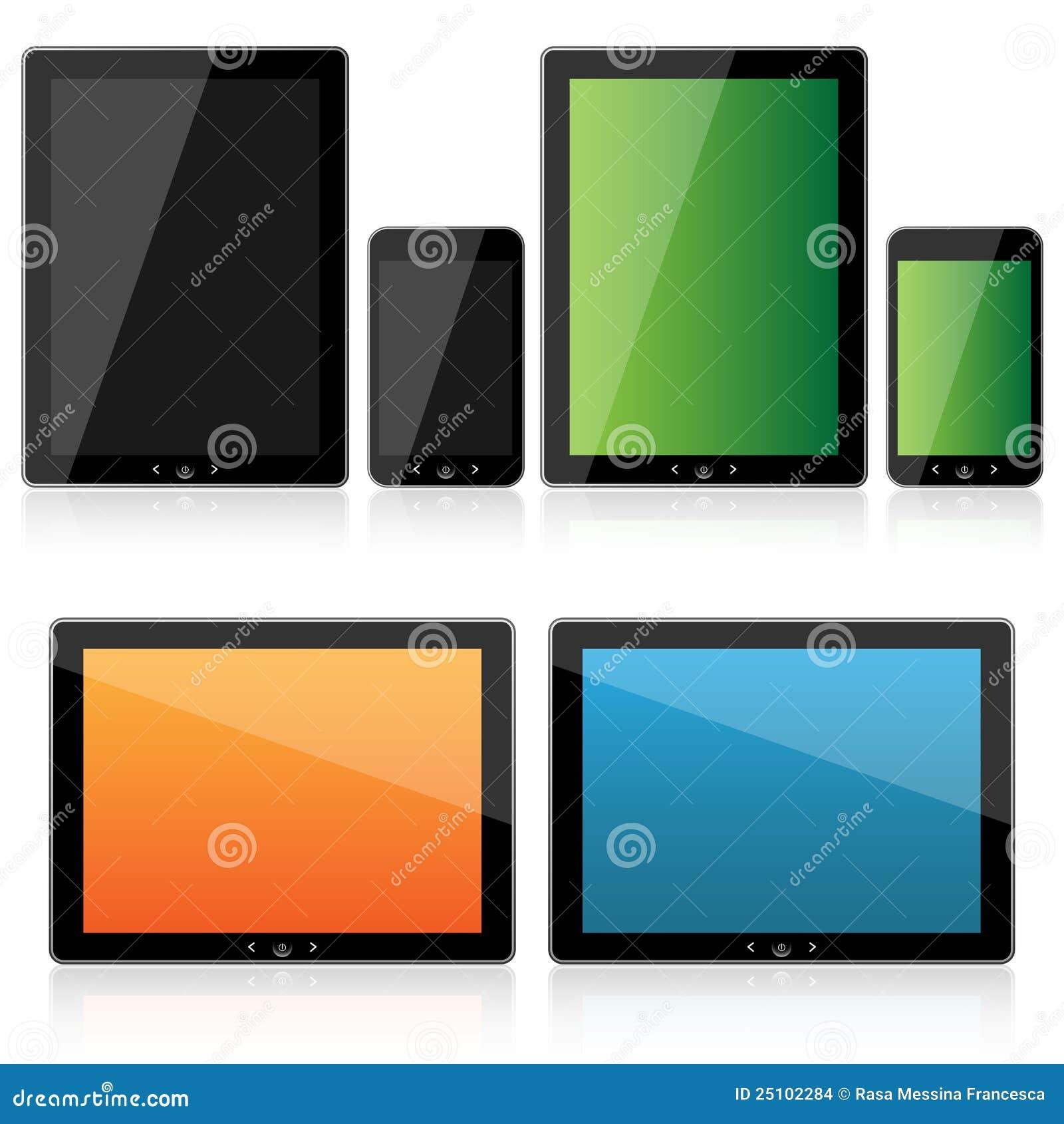 De reeks van de tablet en van smartphone