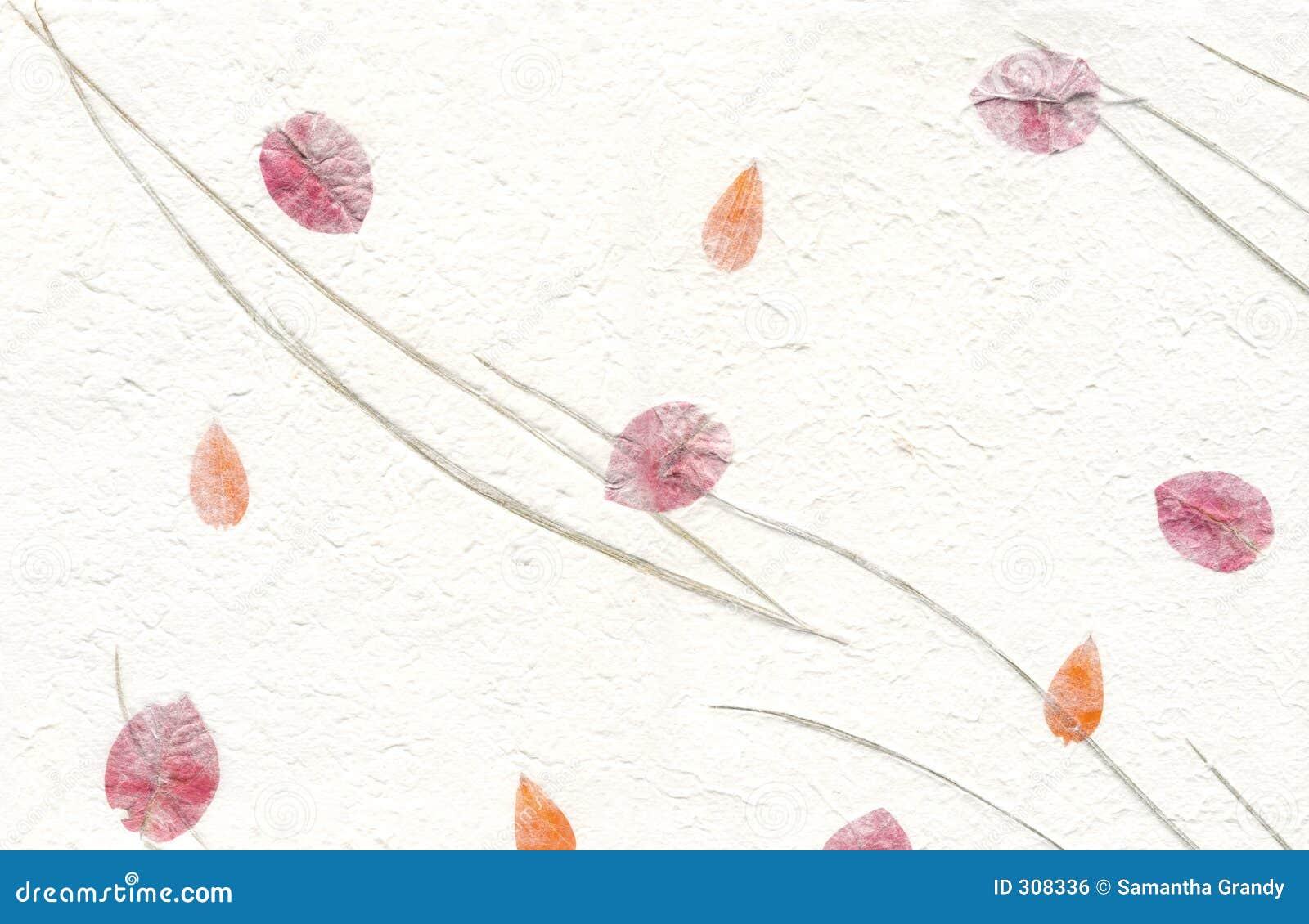 De Reeks van de textuur - Witboek met Bloemen