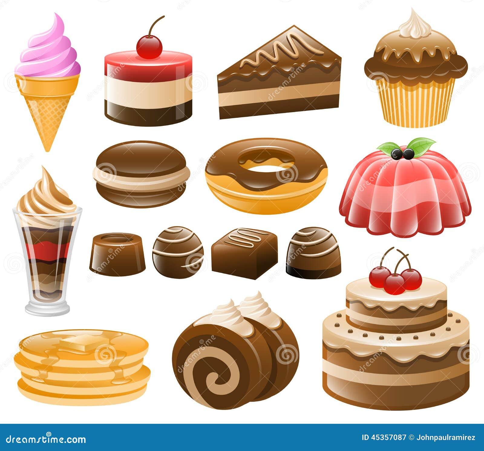 De Reeks van het dessertpictogram, Snoepjes, Banketbakkerij
