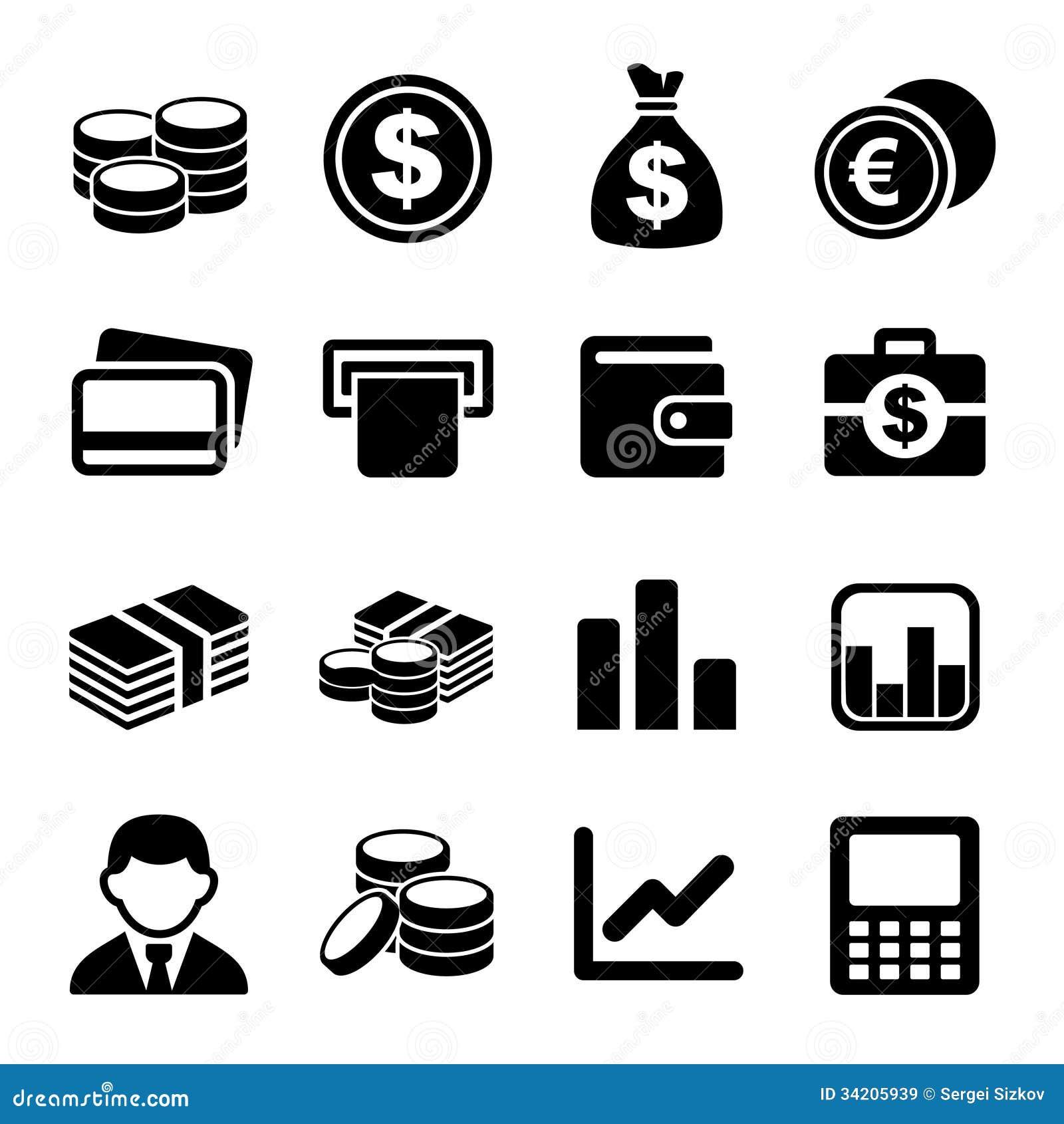 De reeks van het geldpictogram
