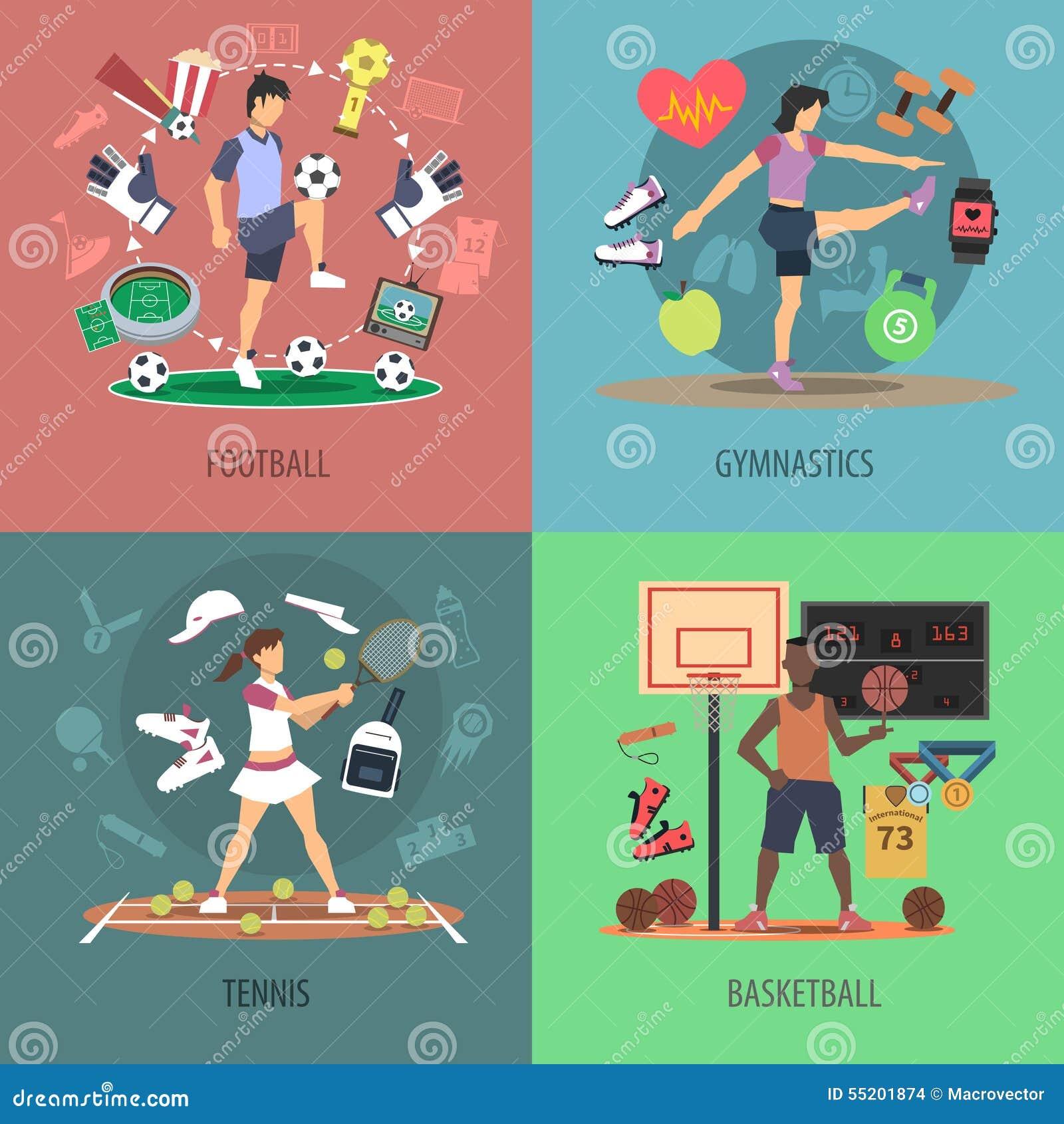 De Reeks van het het Ontwerpconcept van sportmensen