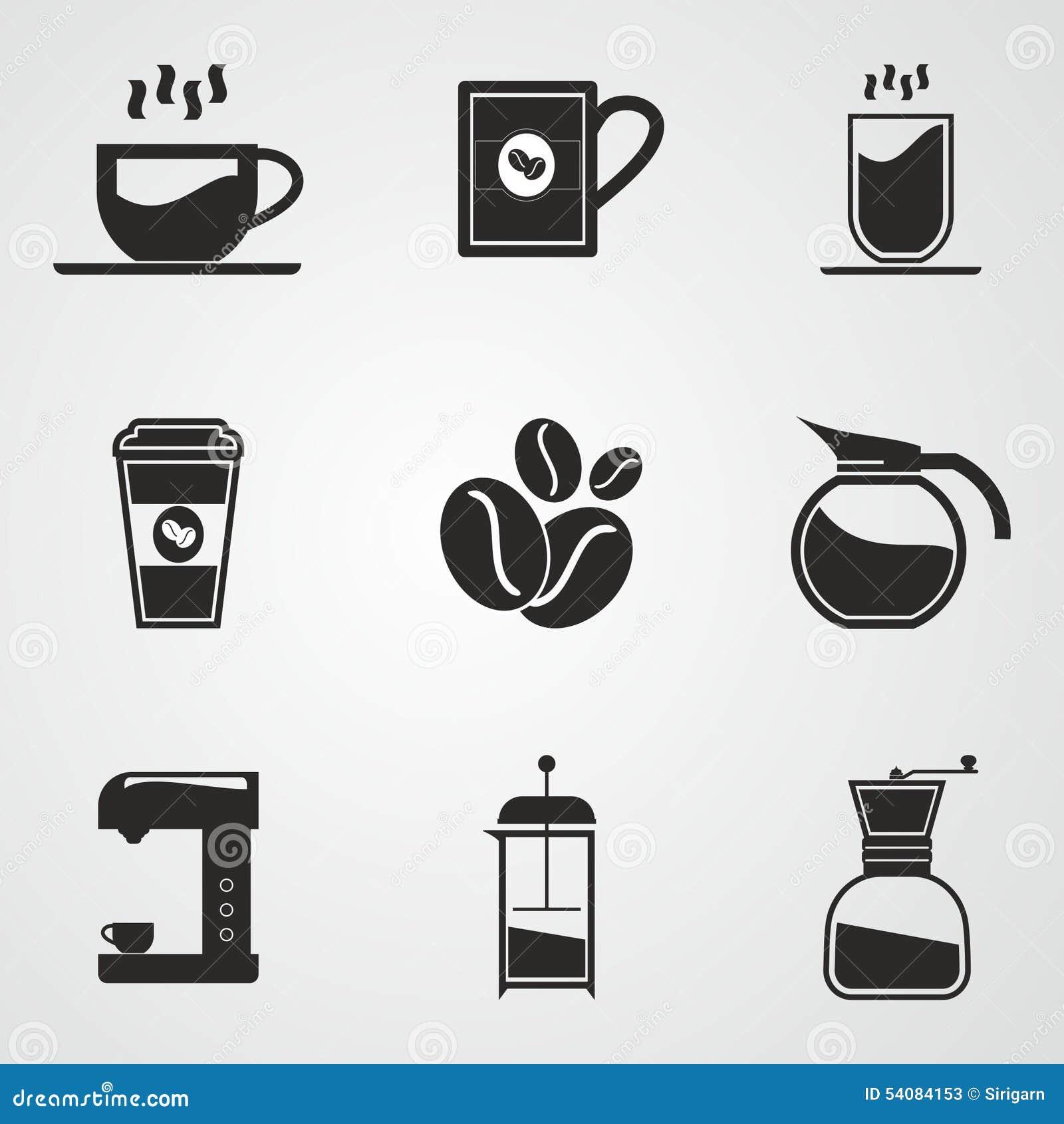 De reeks van het koffiepictogram