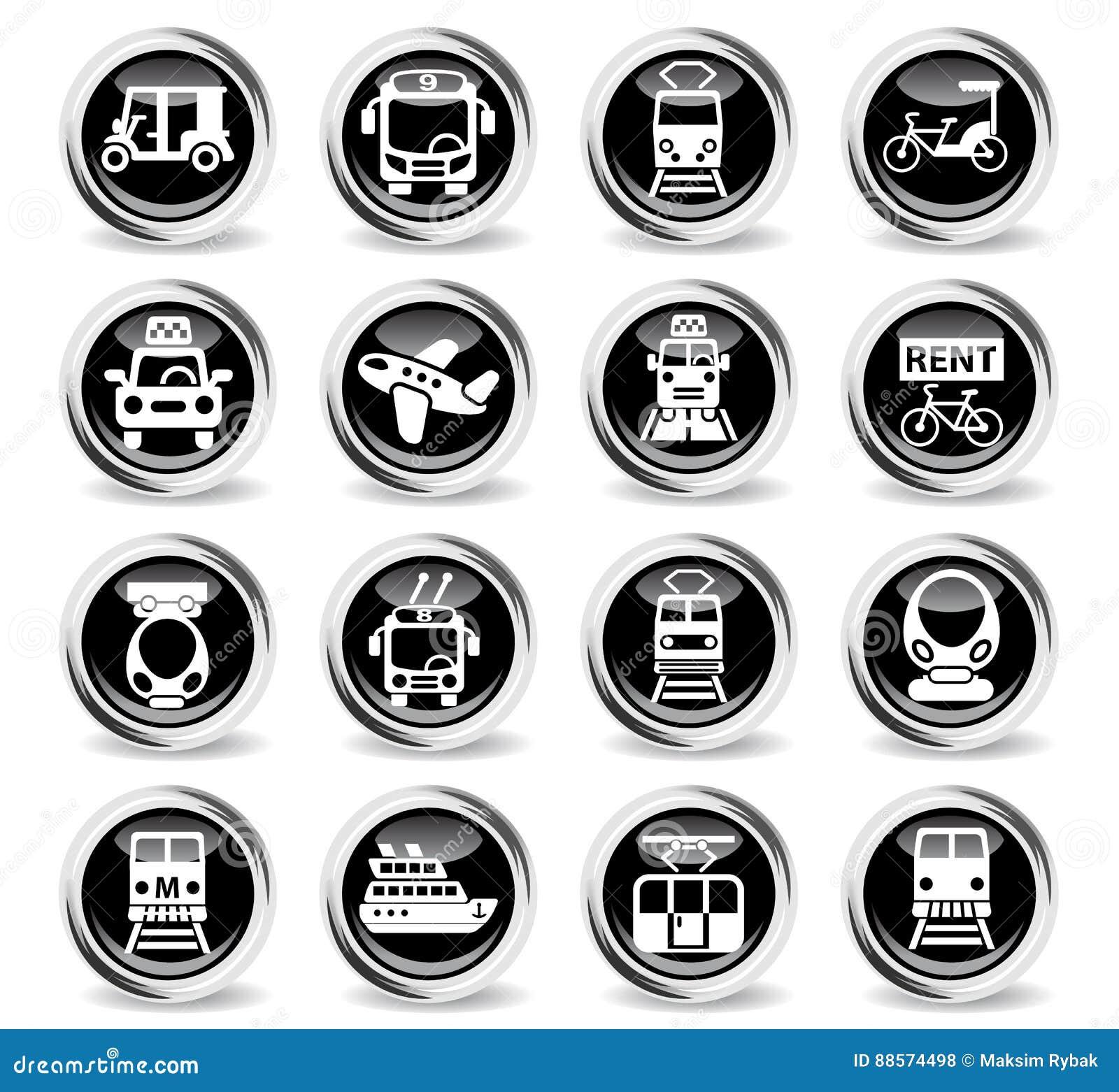 De reeks van het openbaar vervoerpictogram