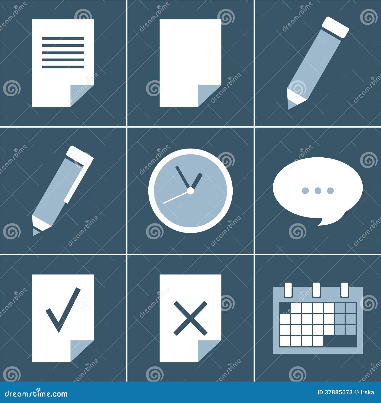 De reeks van het organisatorpictogram
