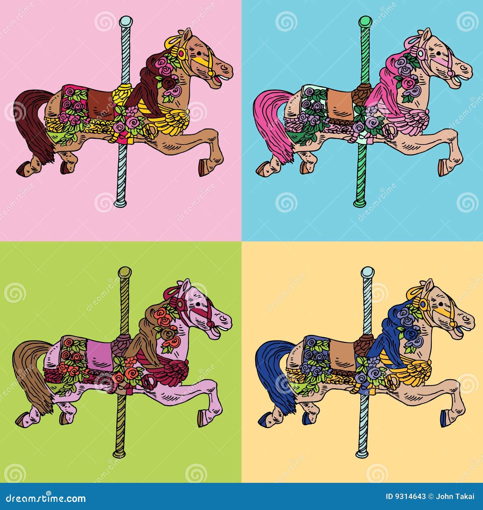De Reeks van het Paard van de carrousel