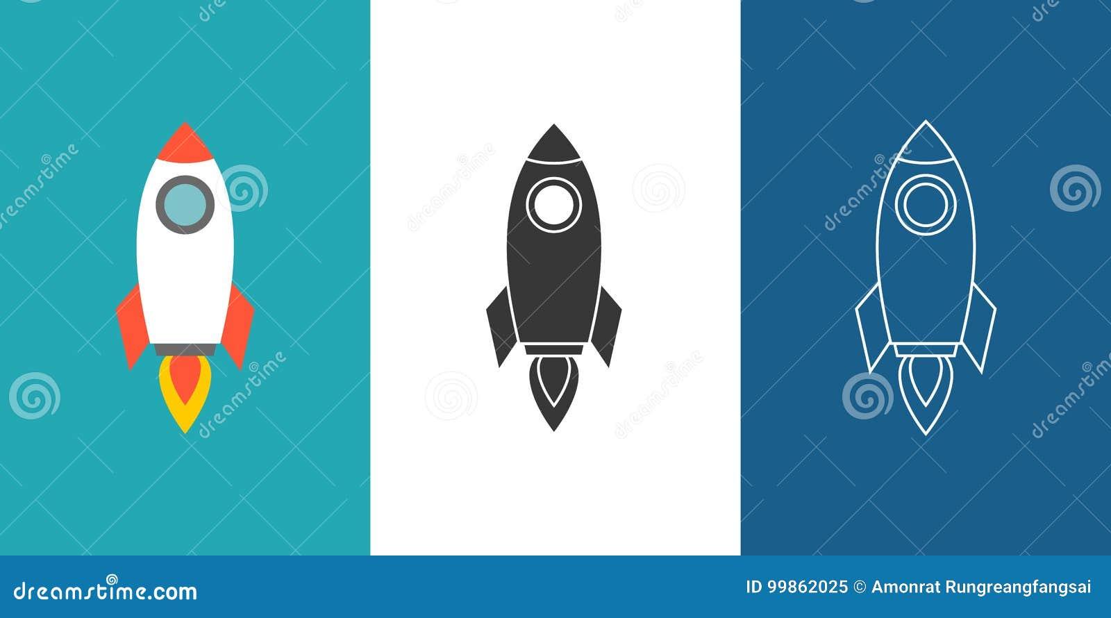 De reeks van het raketpictogram