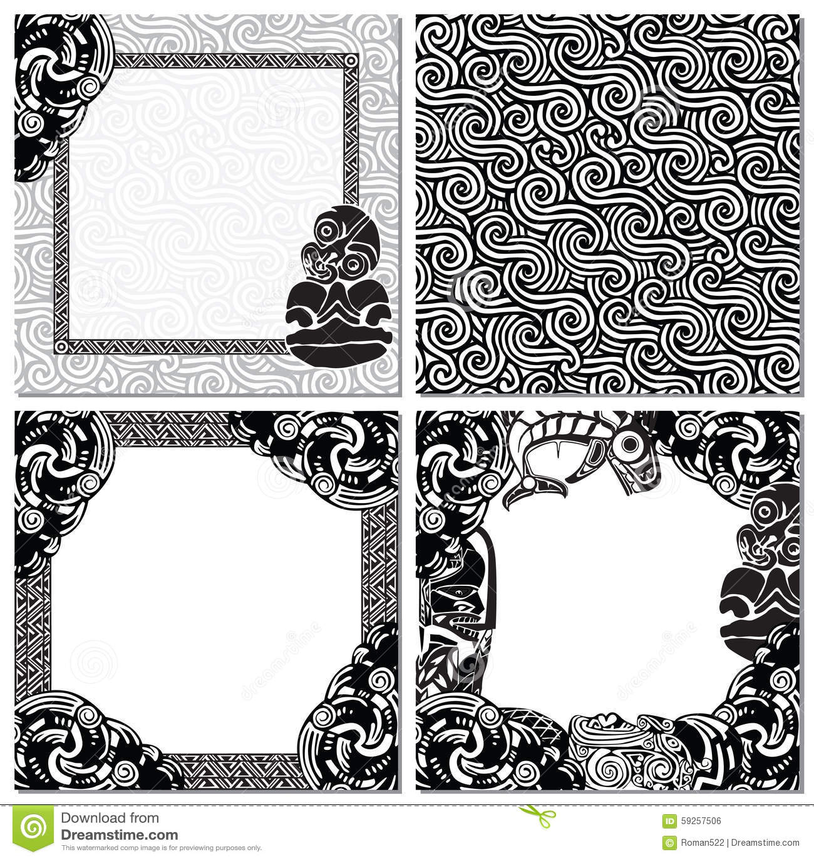 De reeks van Nieuw Zeeland achtergronden met patronen