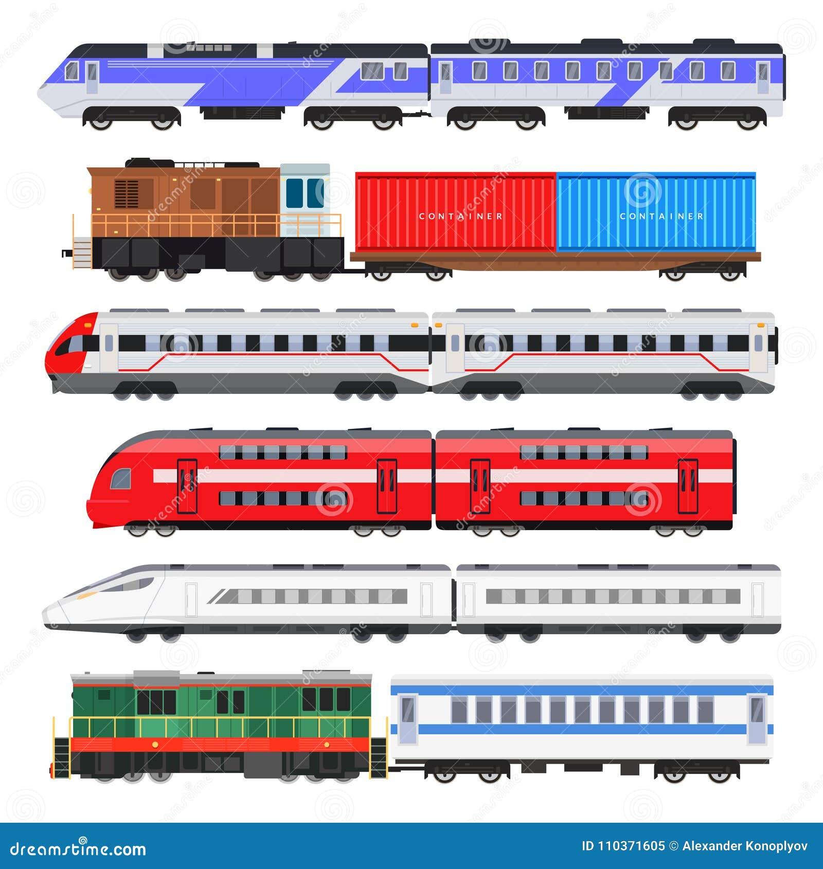 De reeks van de passagierstrein