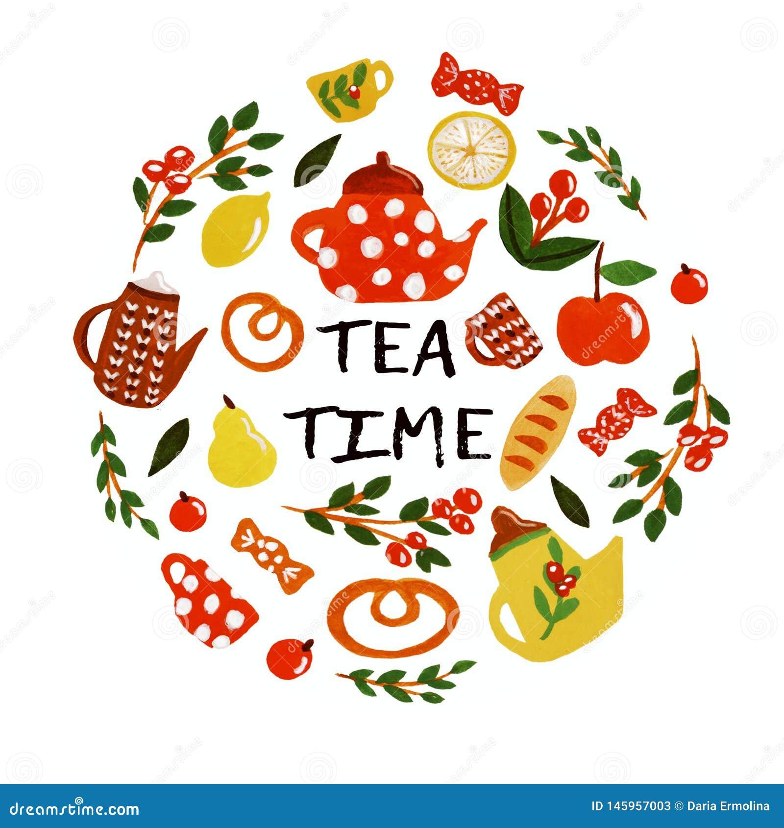 De reeks van de theetijd
