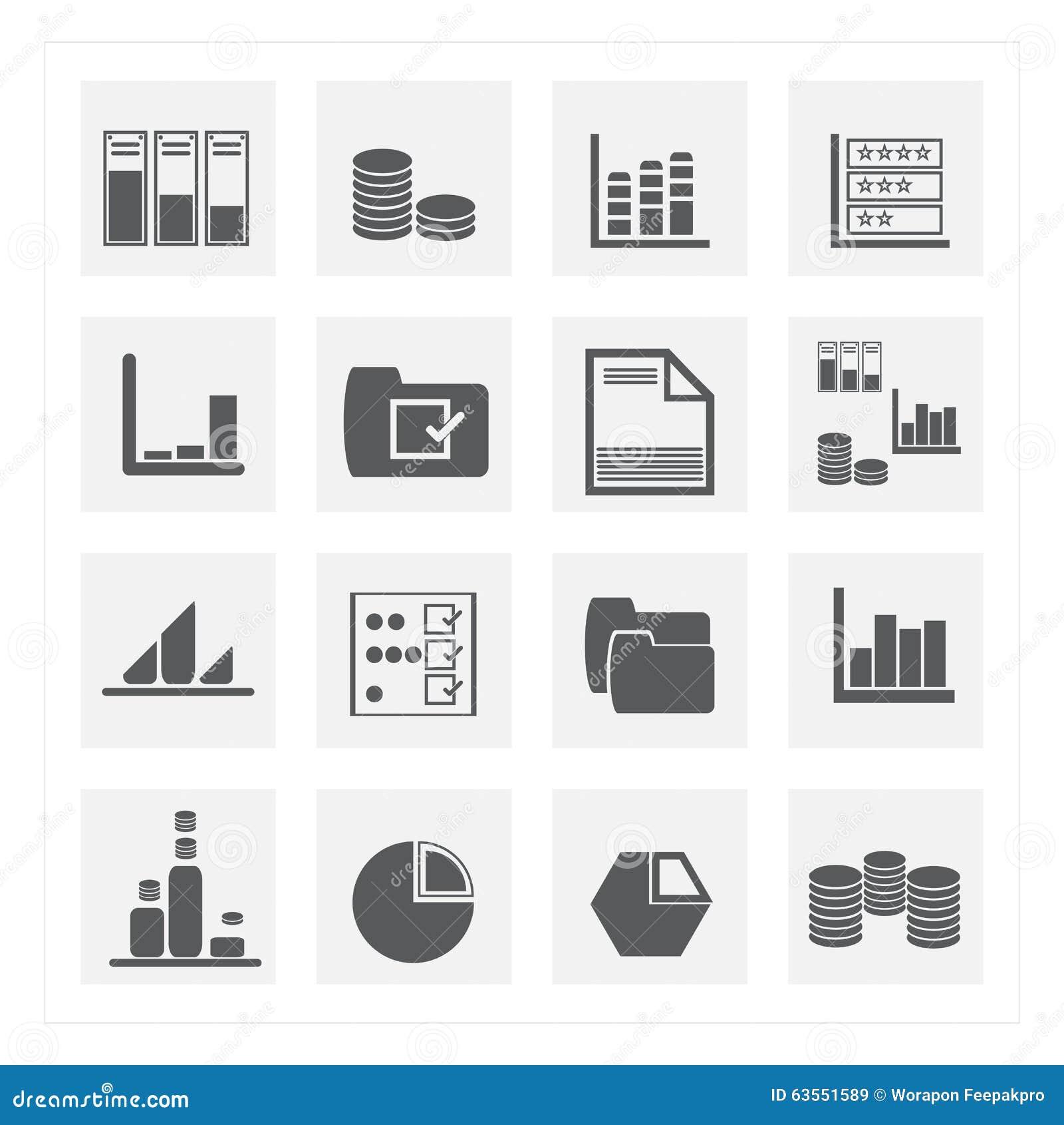 De reeksen van het gegevenspictogram