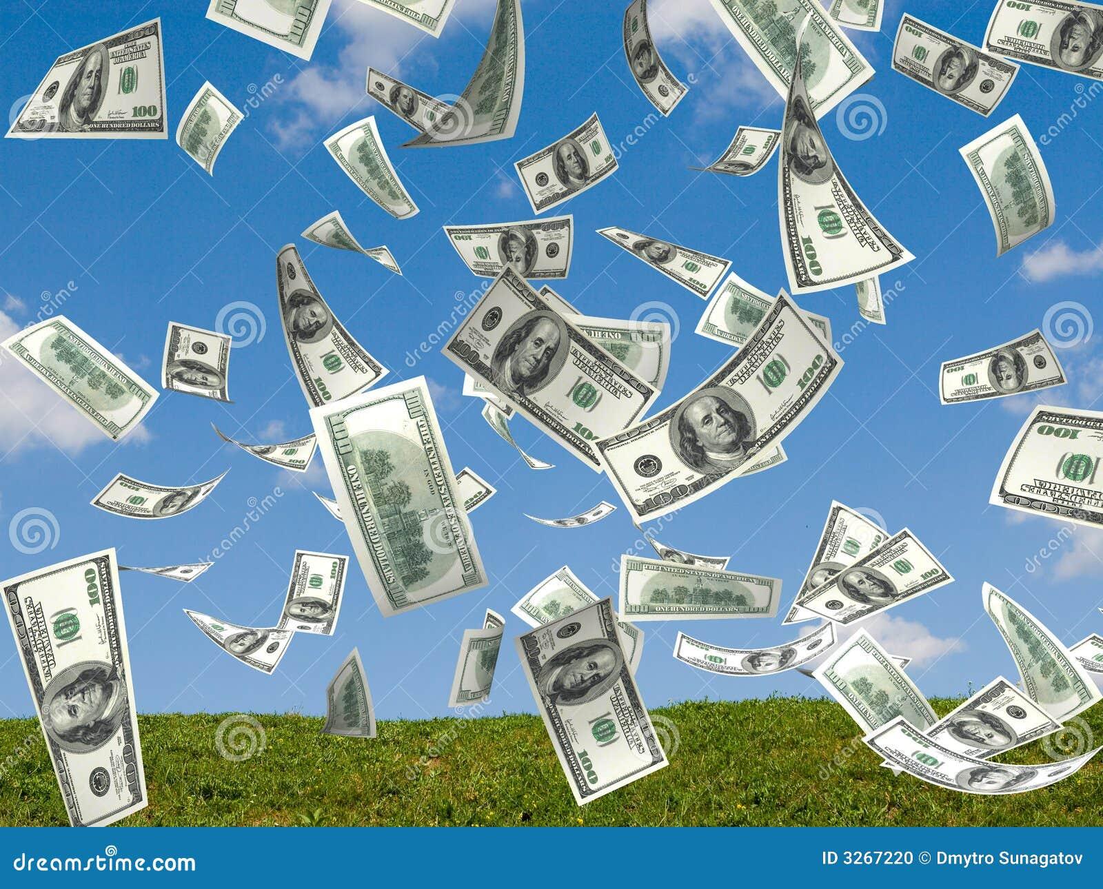 De regen van het geld