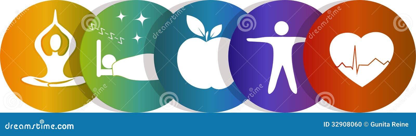 De regenboog van het gezondheidssymbool