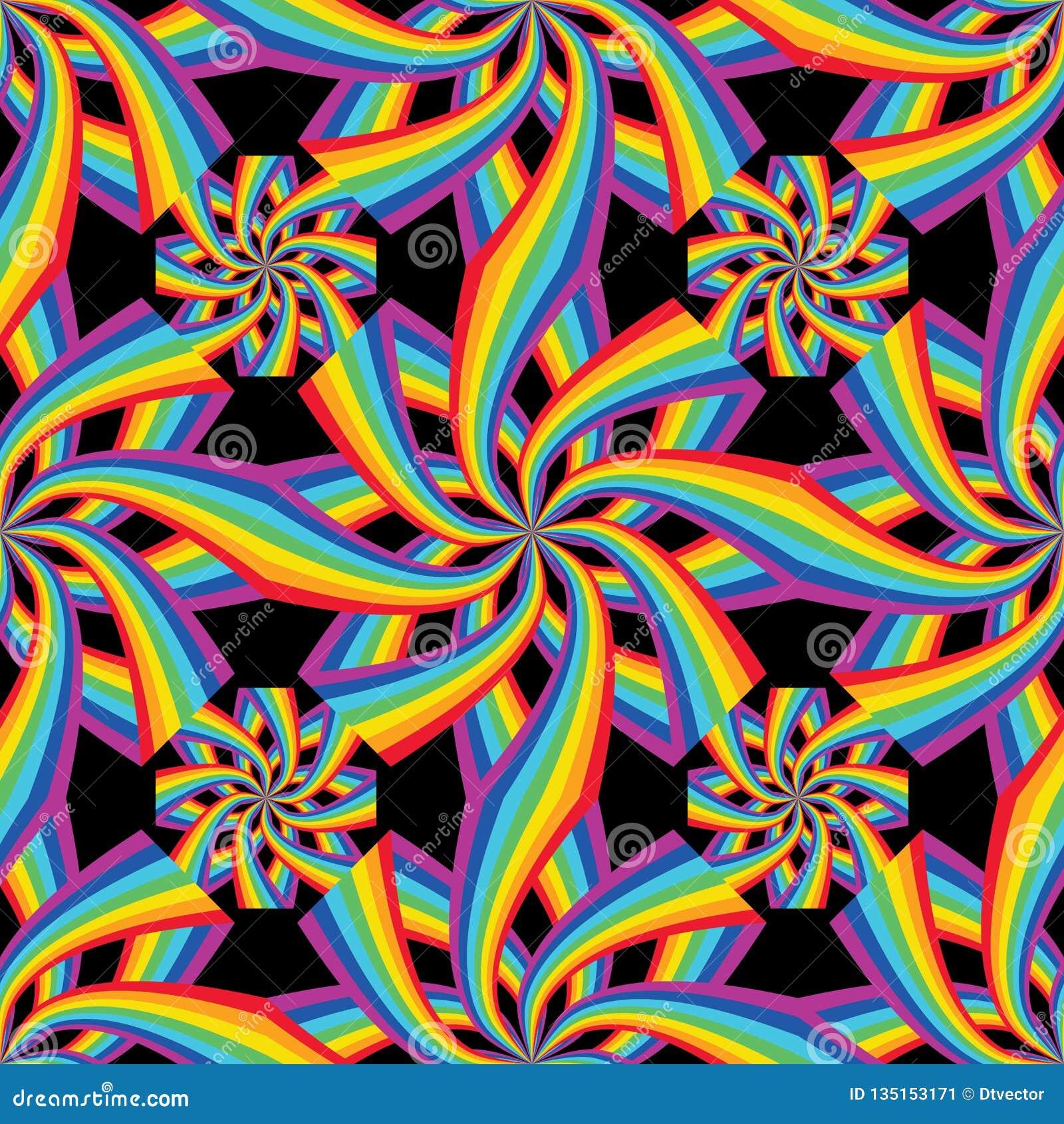De regenboogbloem verbindt naadloze symmetrie