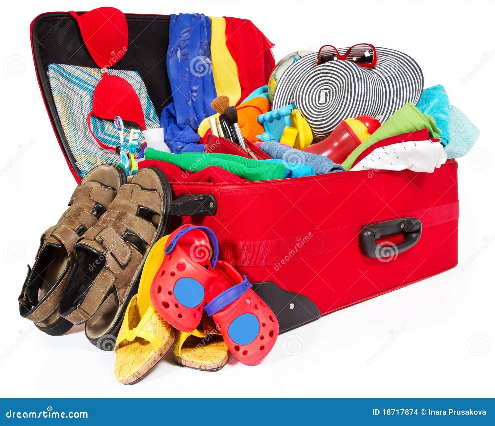 Schoudertas Voor Vakantie : De reis rode koffer van familie die voor vakantie wordt