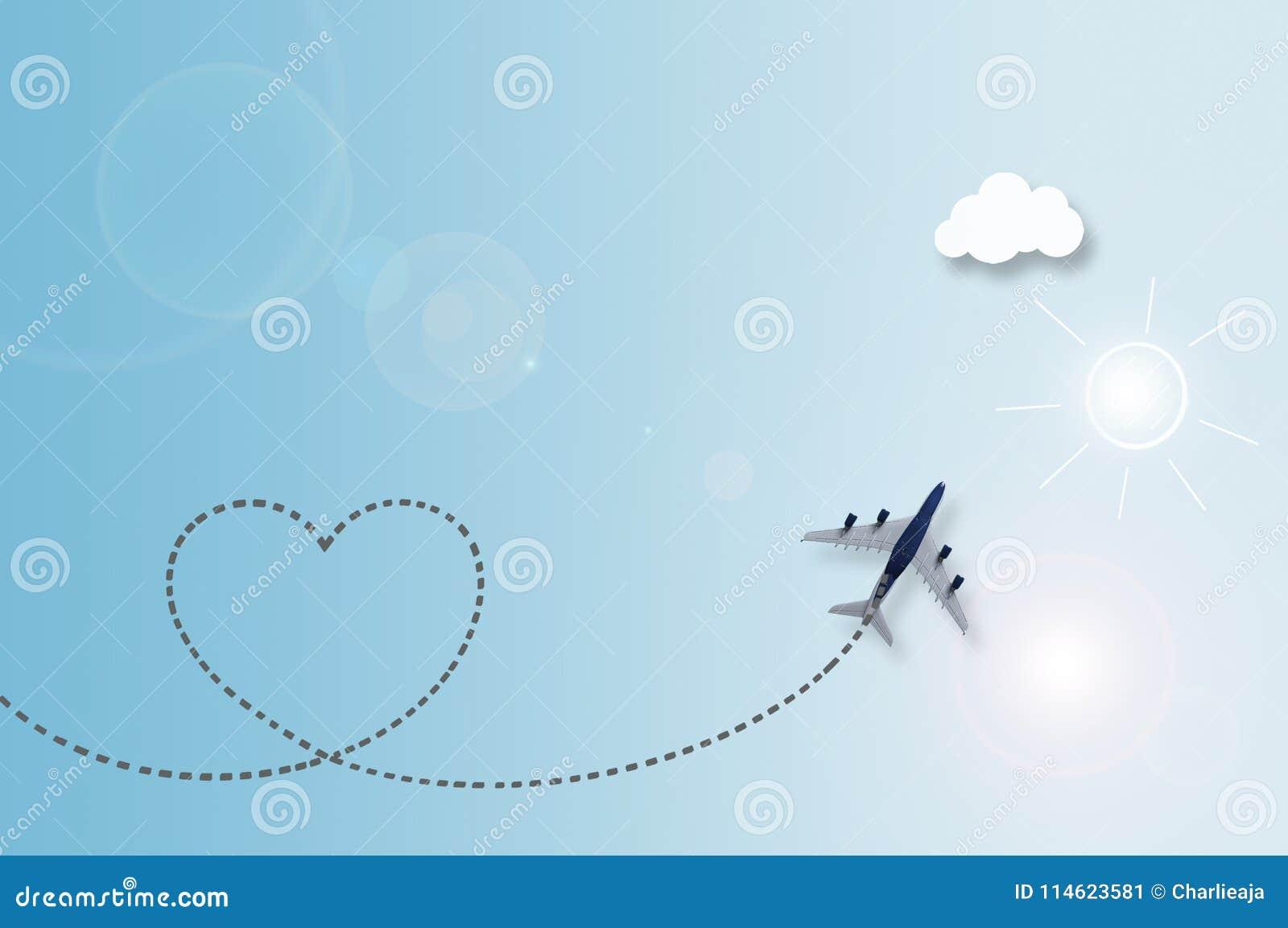 De reisachtergrond van de liefdewolk