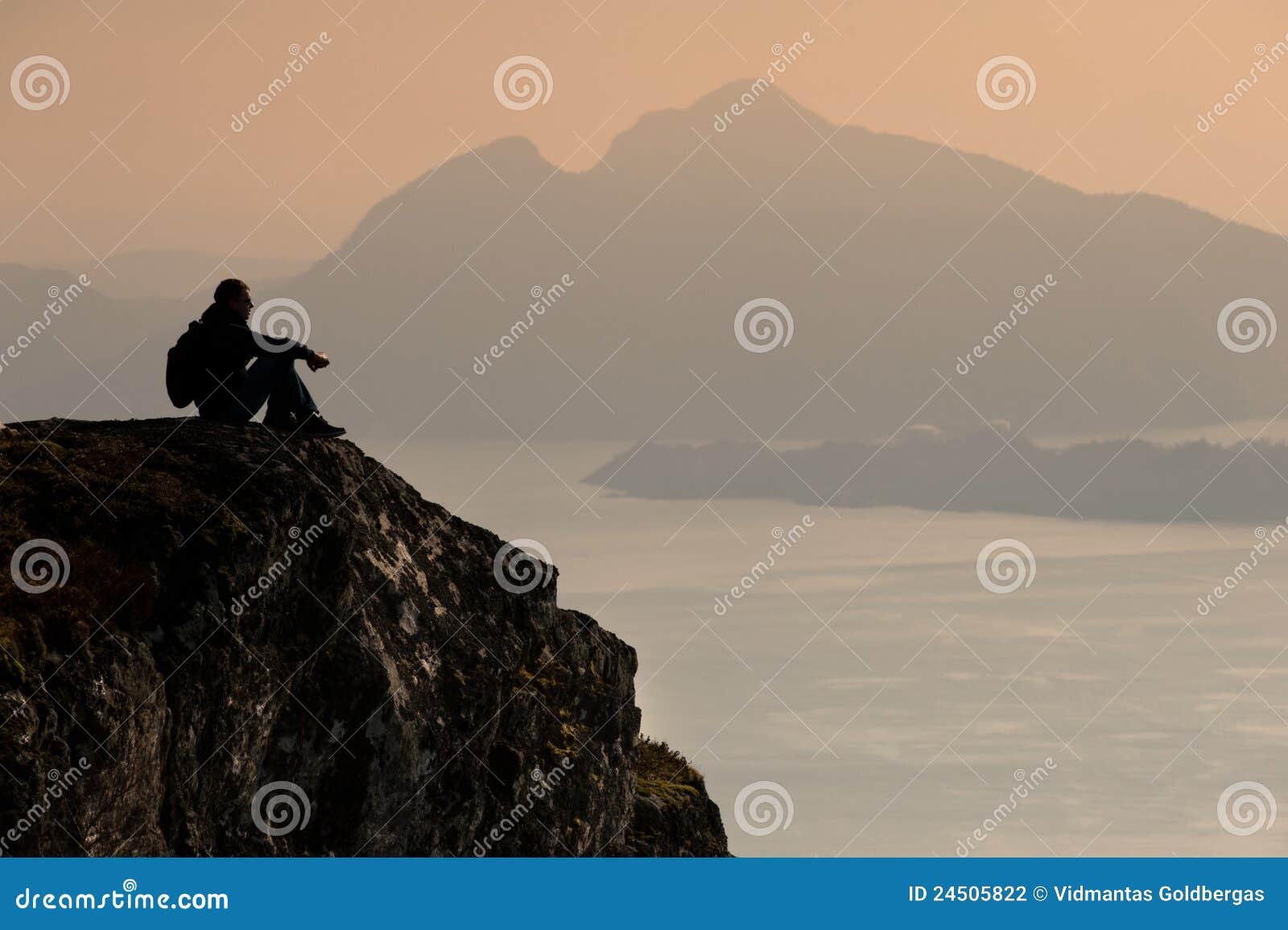 De reiziger van de berg