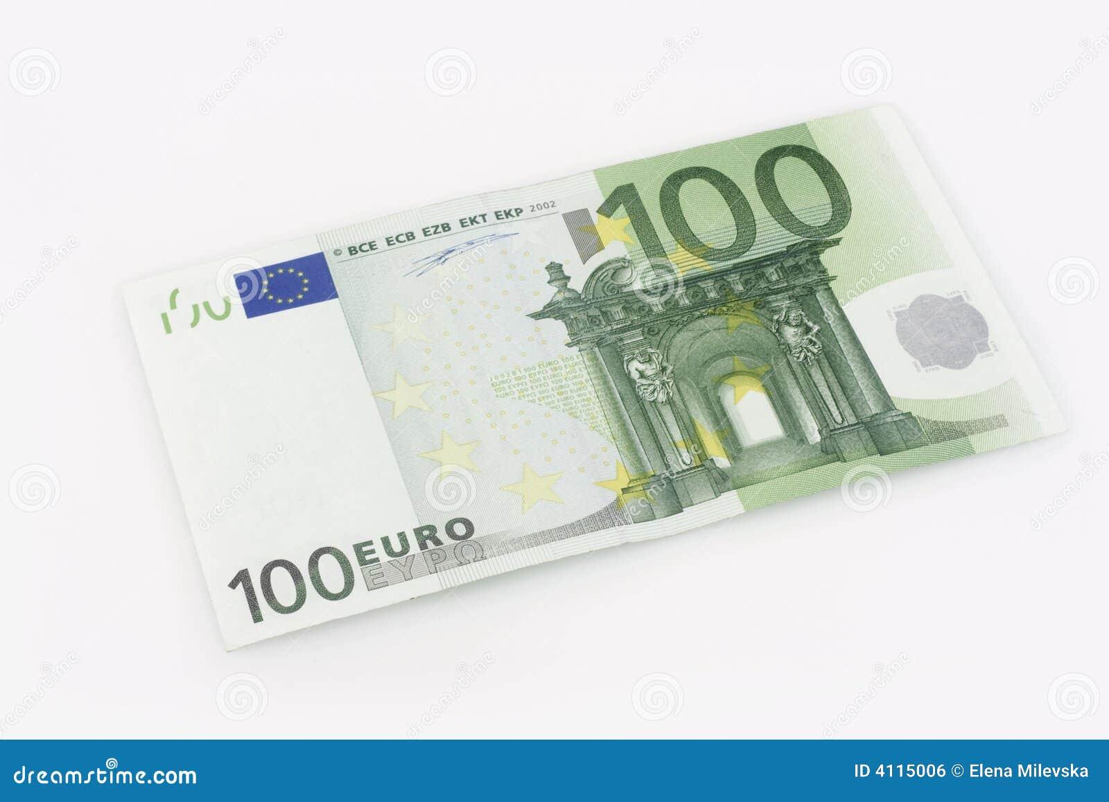 De rekening van 100 Euro