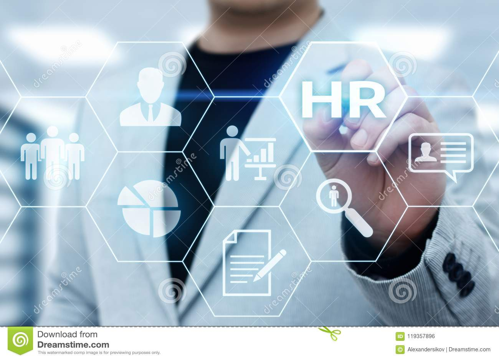 De Rekruteringswerkgelegenheid die van het personeelsu beheer Concept koppensnellen
