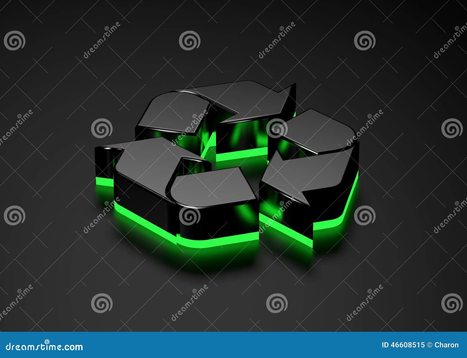 De rekupereerbare gloeiende bodem van het teken groene licht