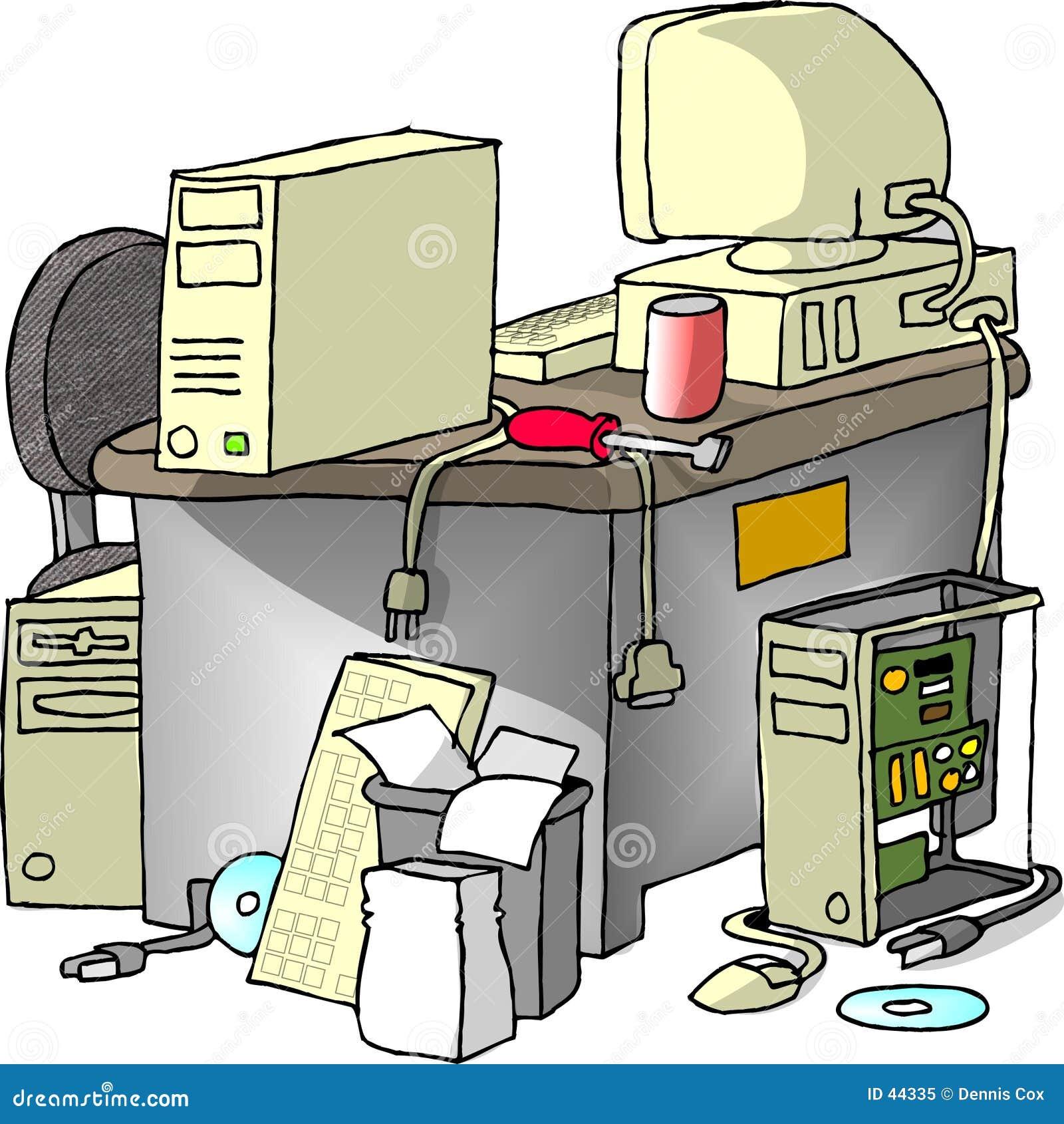 De Reparatie van de computer