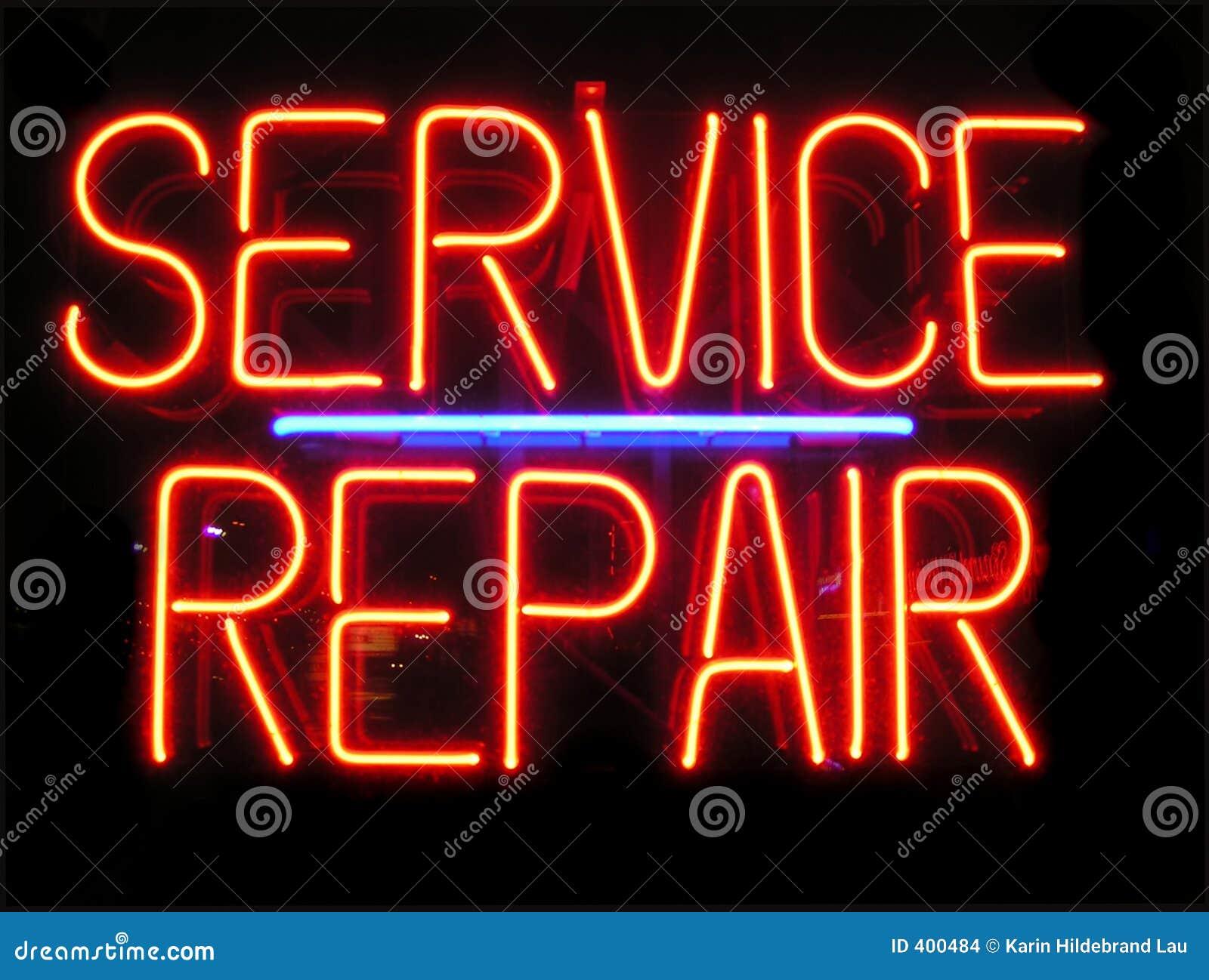 De Reparatie van de dienst