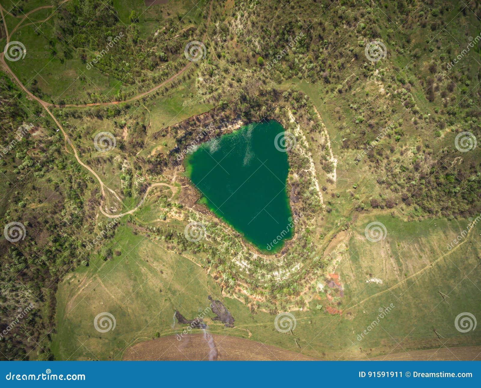 De reserve van het steengroevemeer