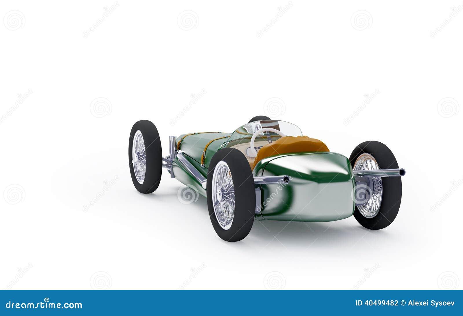 de retour de la voiture de course verte de vintage illustration stock image 40499482. Black Bedroom Furniture Sets. Home Design Ideas