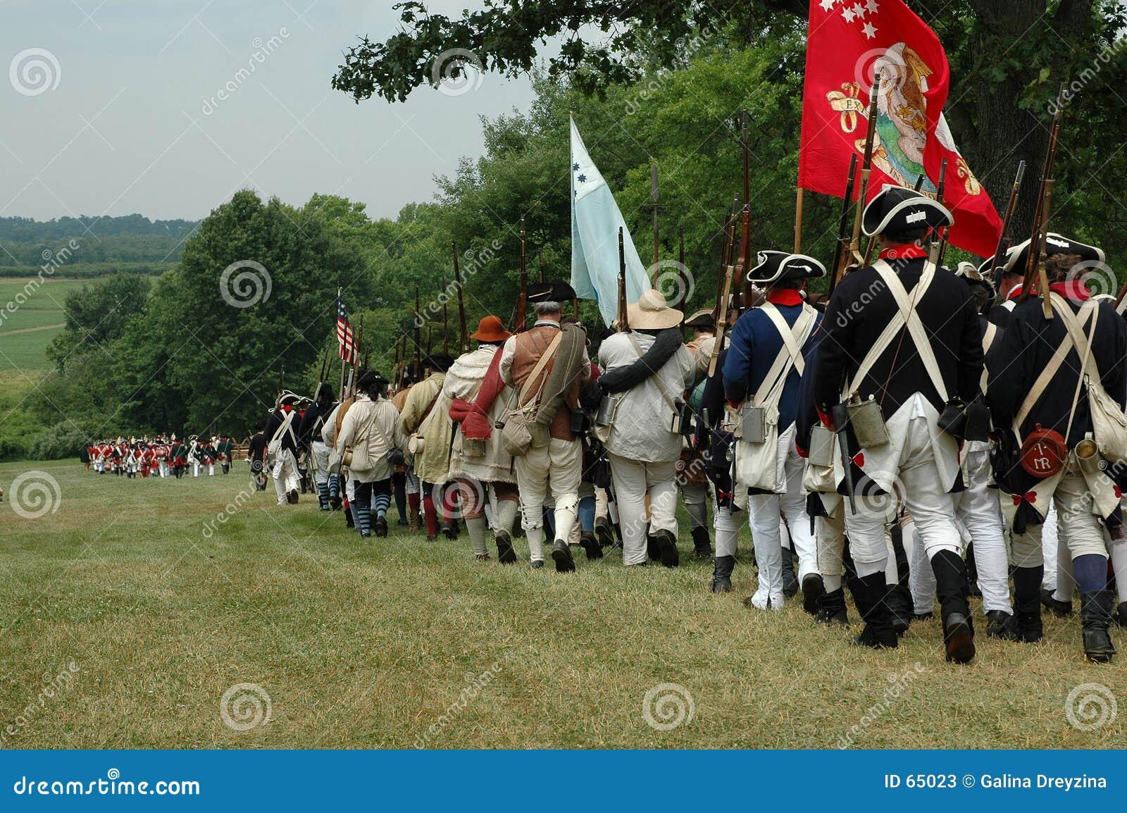De revolutionaire oorlog die van de onafhankelijkheid gaat plaatsen