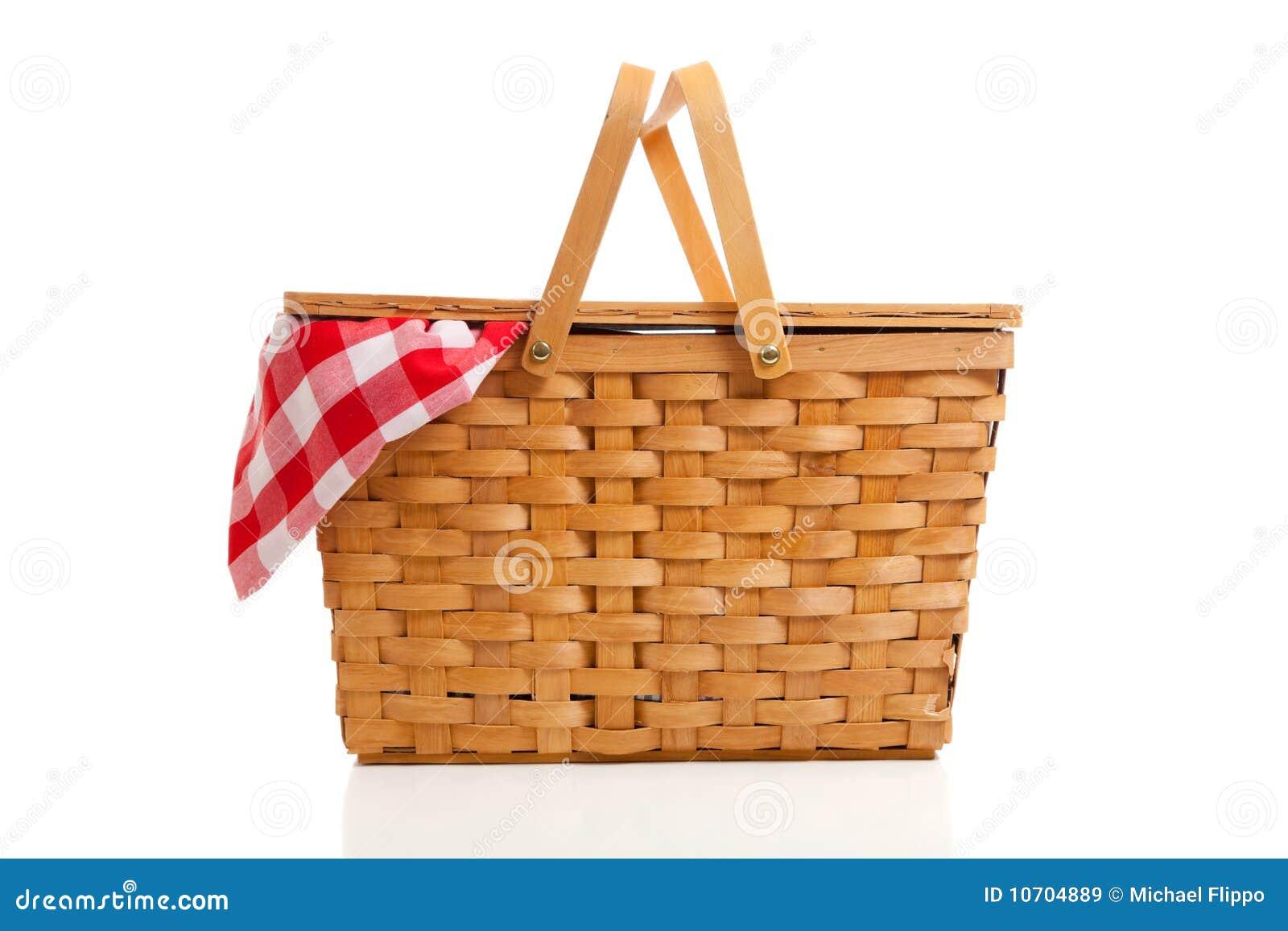 De rieten mand van de picknick met de doek van de gingang stock afbeelding afbeelding 10704889 - Mand linnen huis van de wereld ...