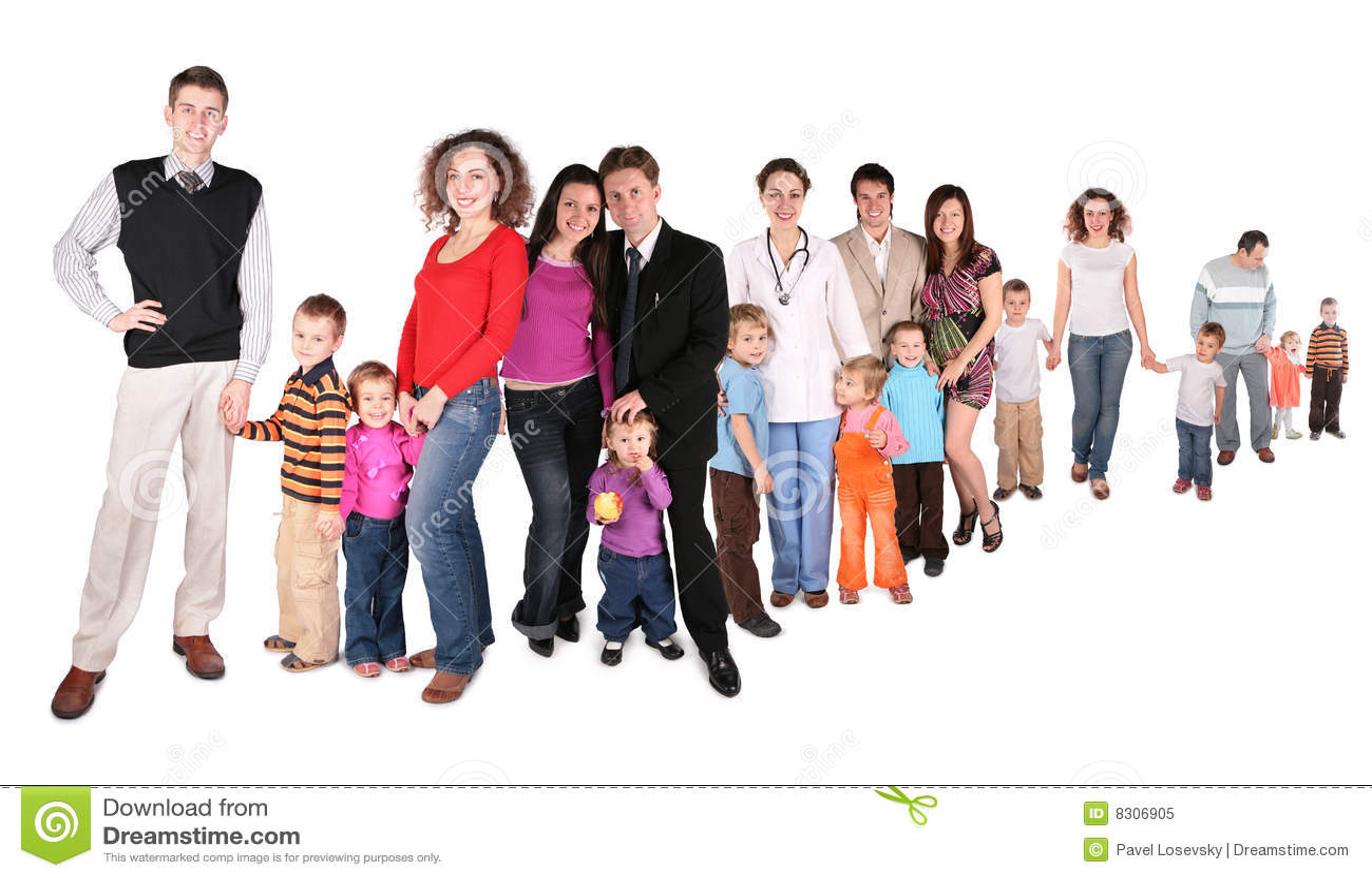 De rijcollage van de familie
