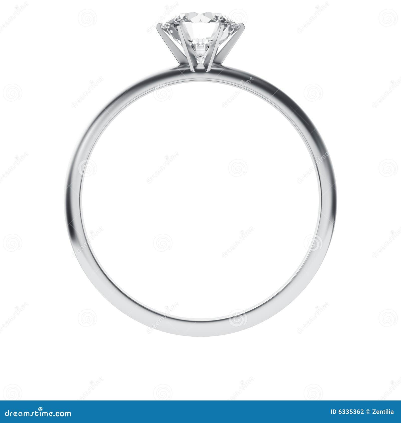 De ring van de diamant