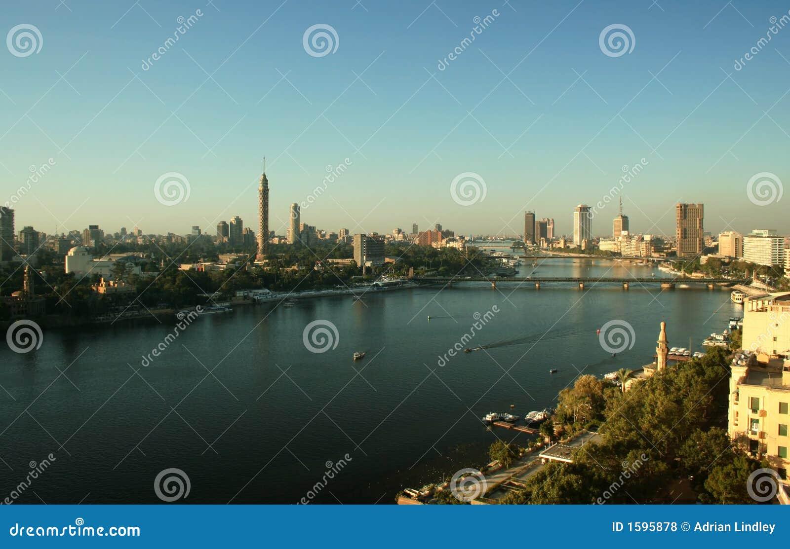 De rivier Nijl in Kaïro